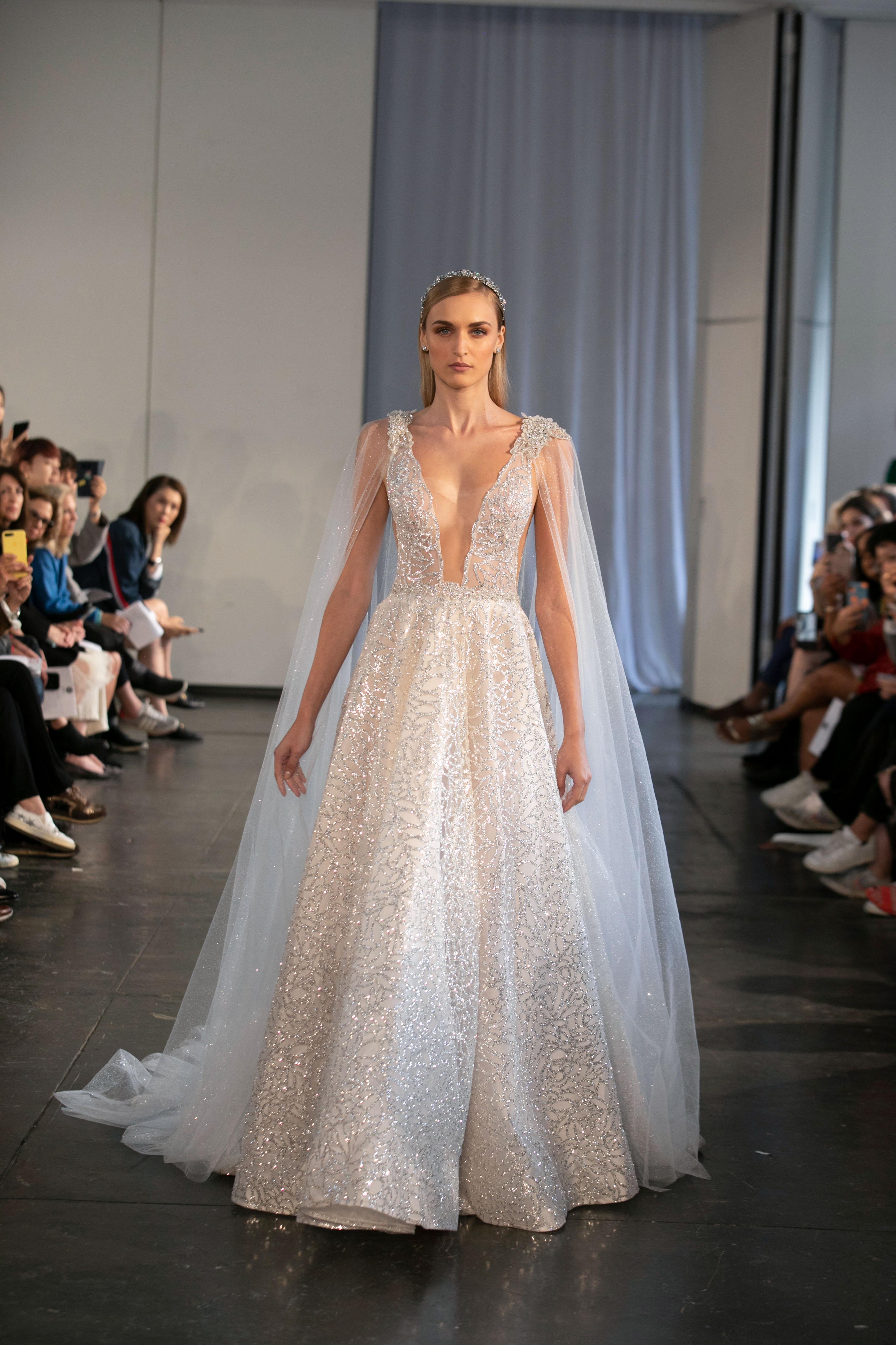 berta fall 2019 v-neck glitter a-line wedding dress