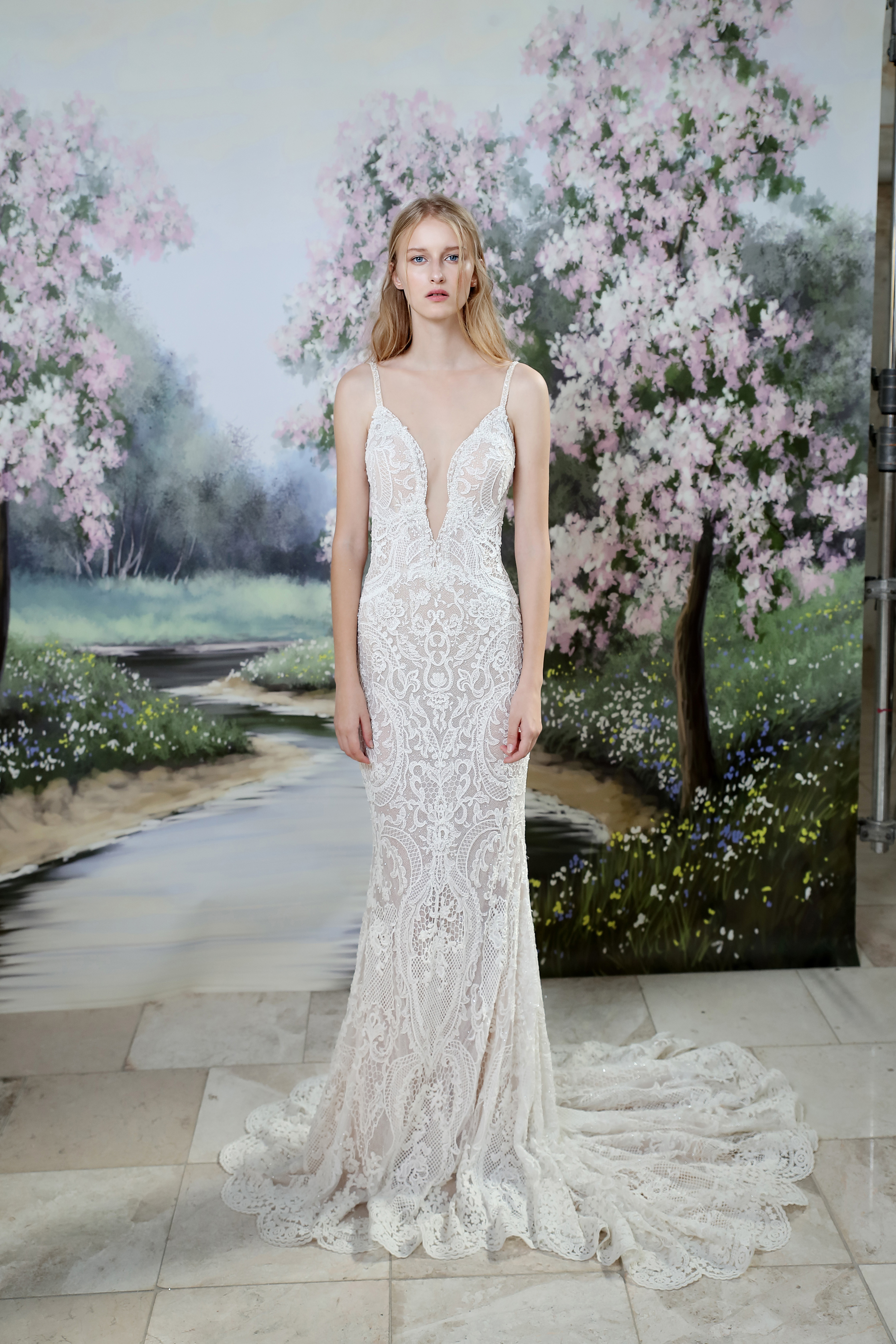 Gala by Galia Lahav sheath wedding dress fall 2019