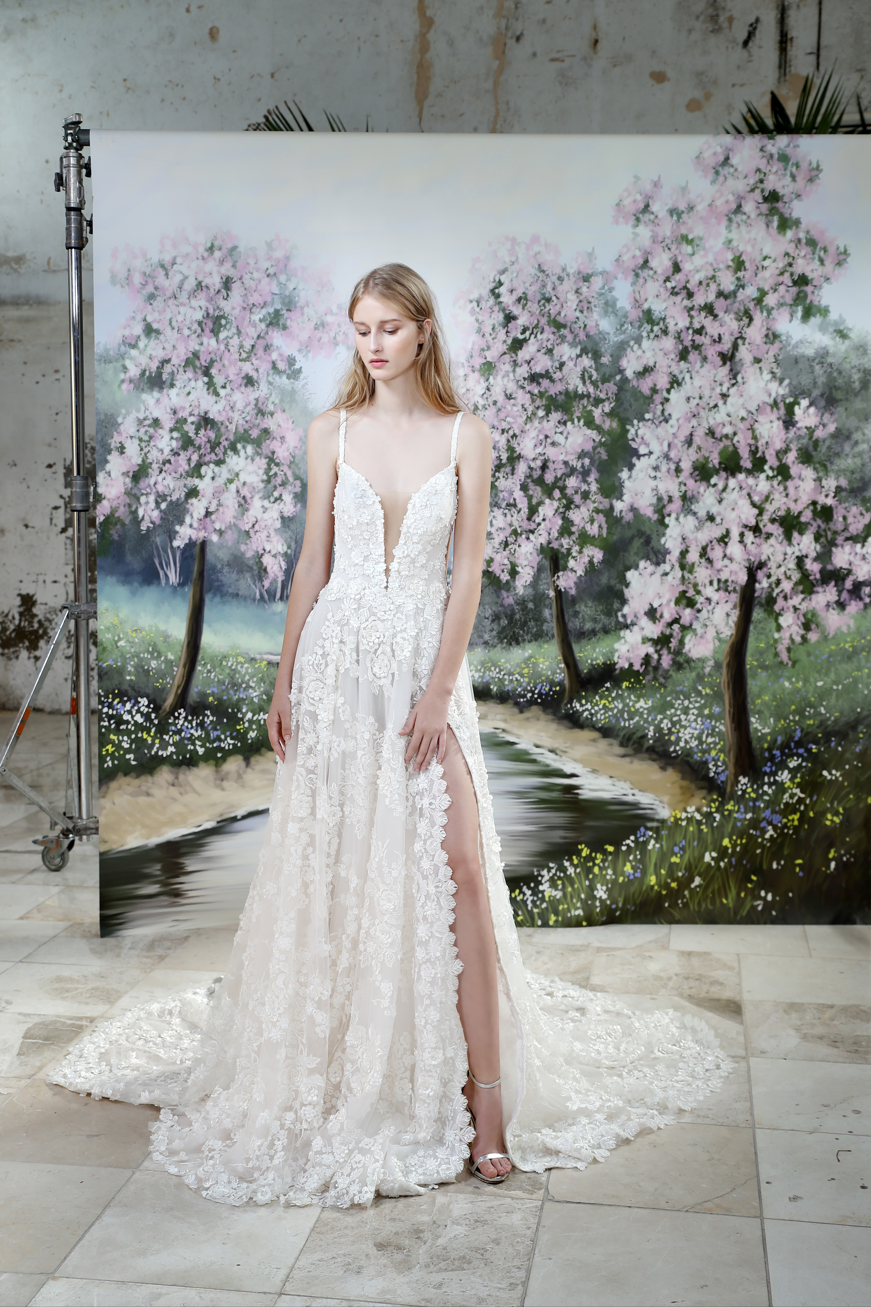 Gala by Galia Lahav spaghetti strap wedding dress fall 2019