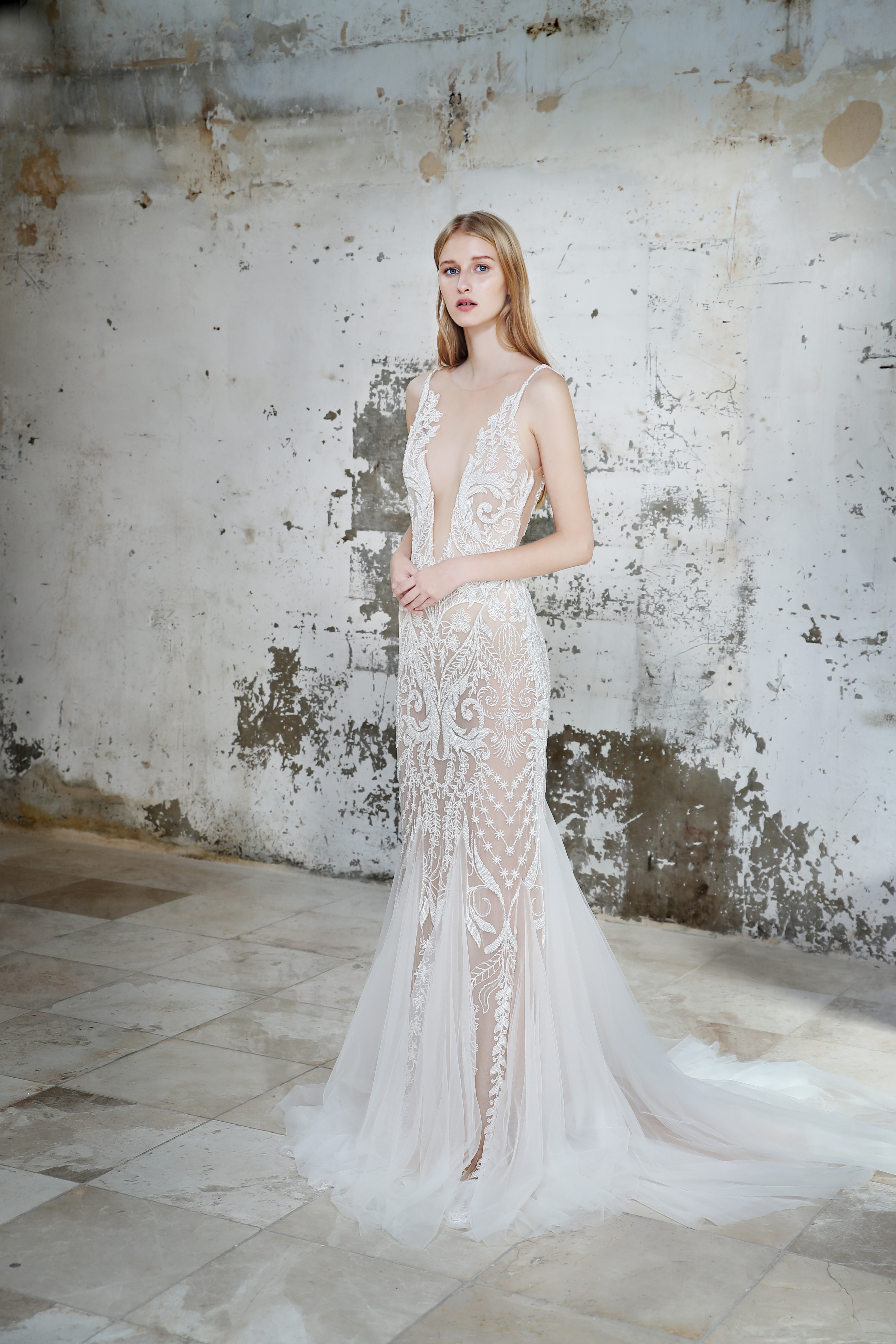 Gala by Galia Lahav sheer wedding dress fall 2019