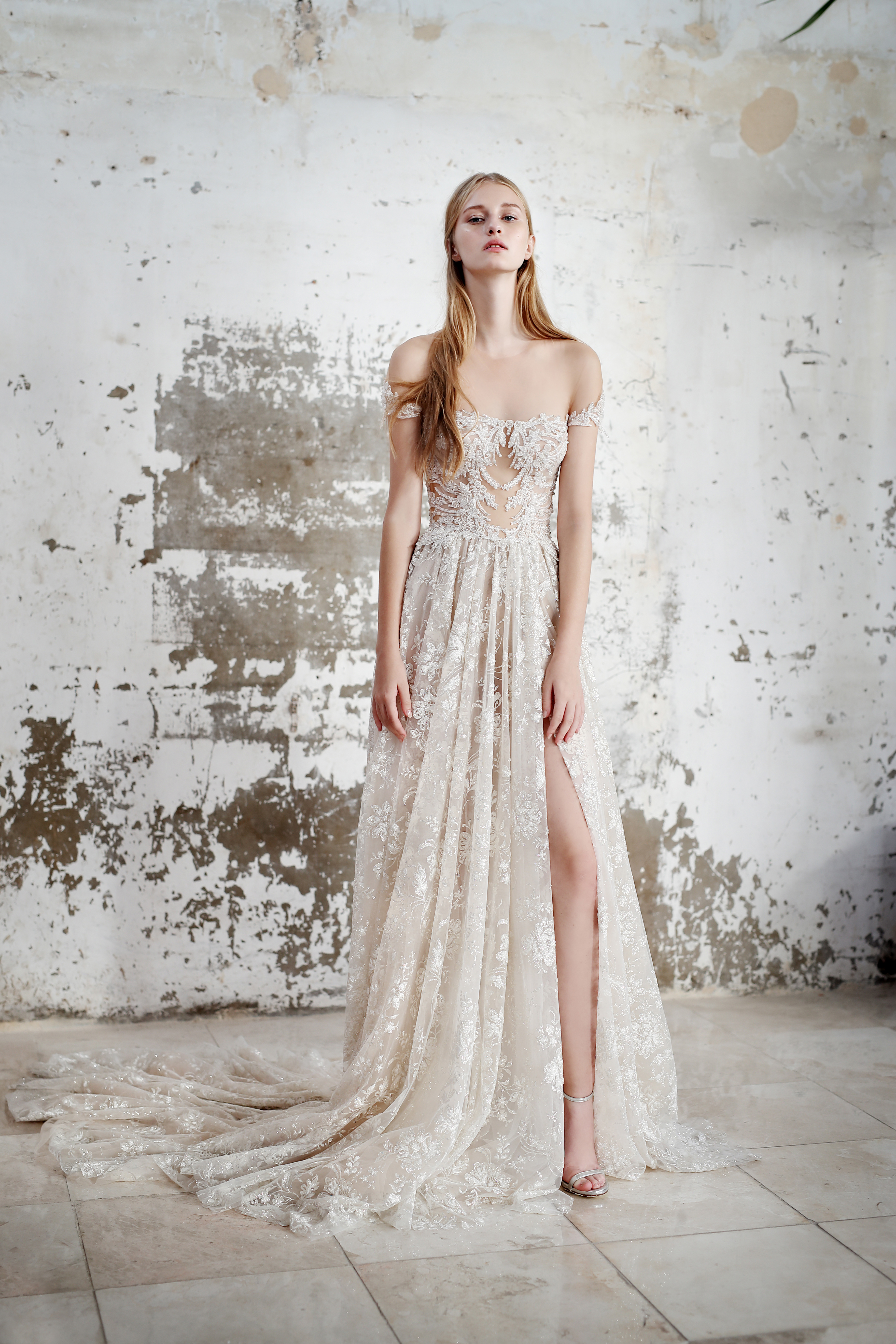 Gala by Galia Lahav off the shoulder wedding dress fall 2019