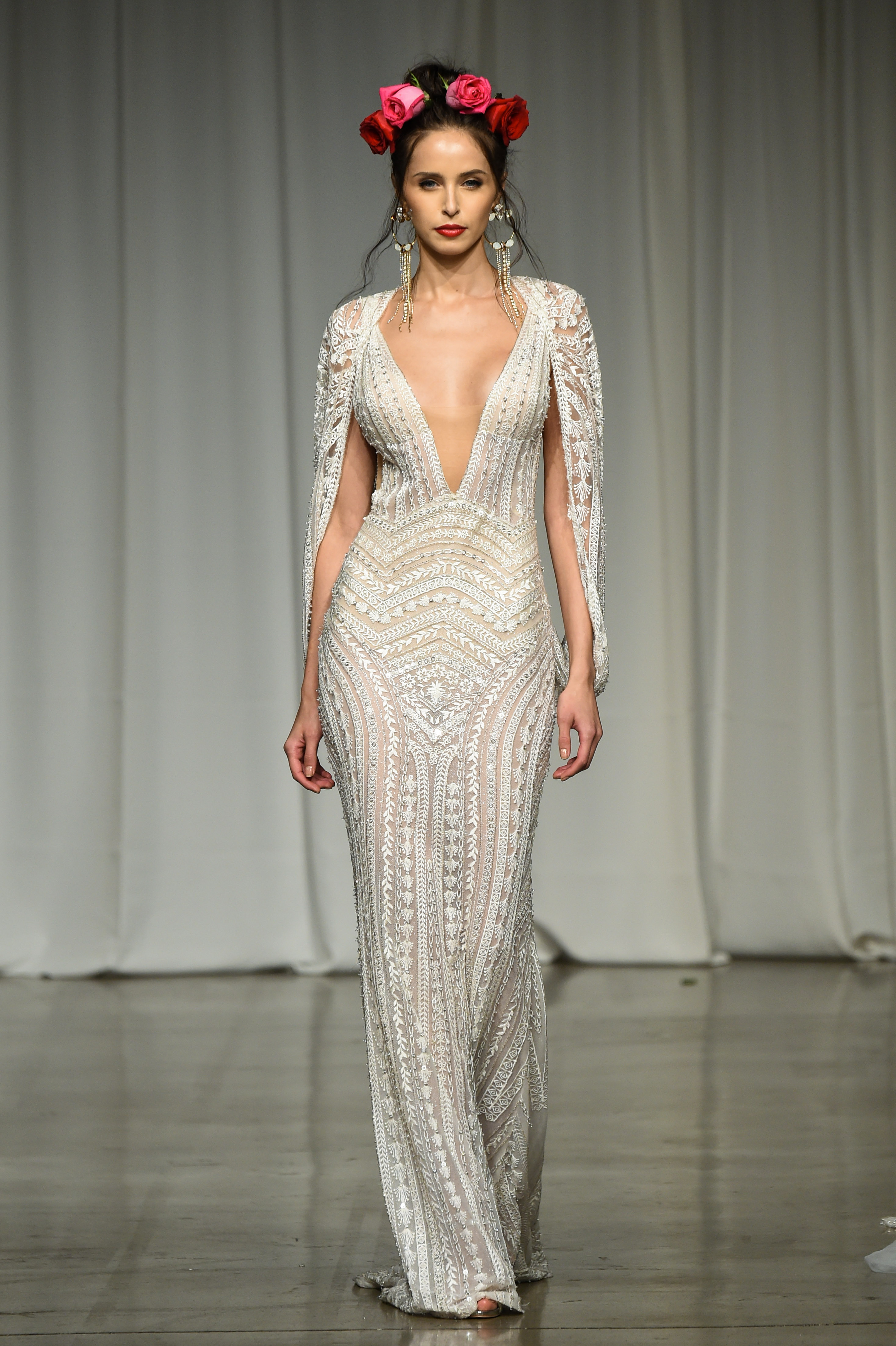 julie vino group fall 2019 sheath long sleeve wedding dress