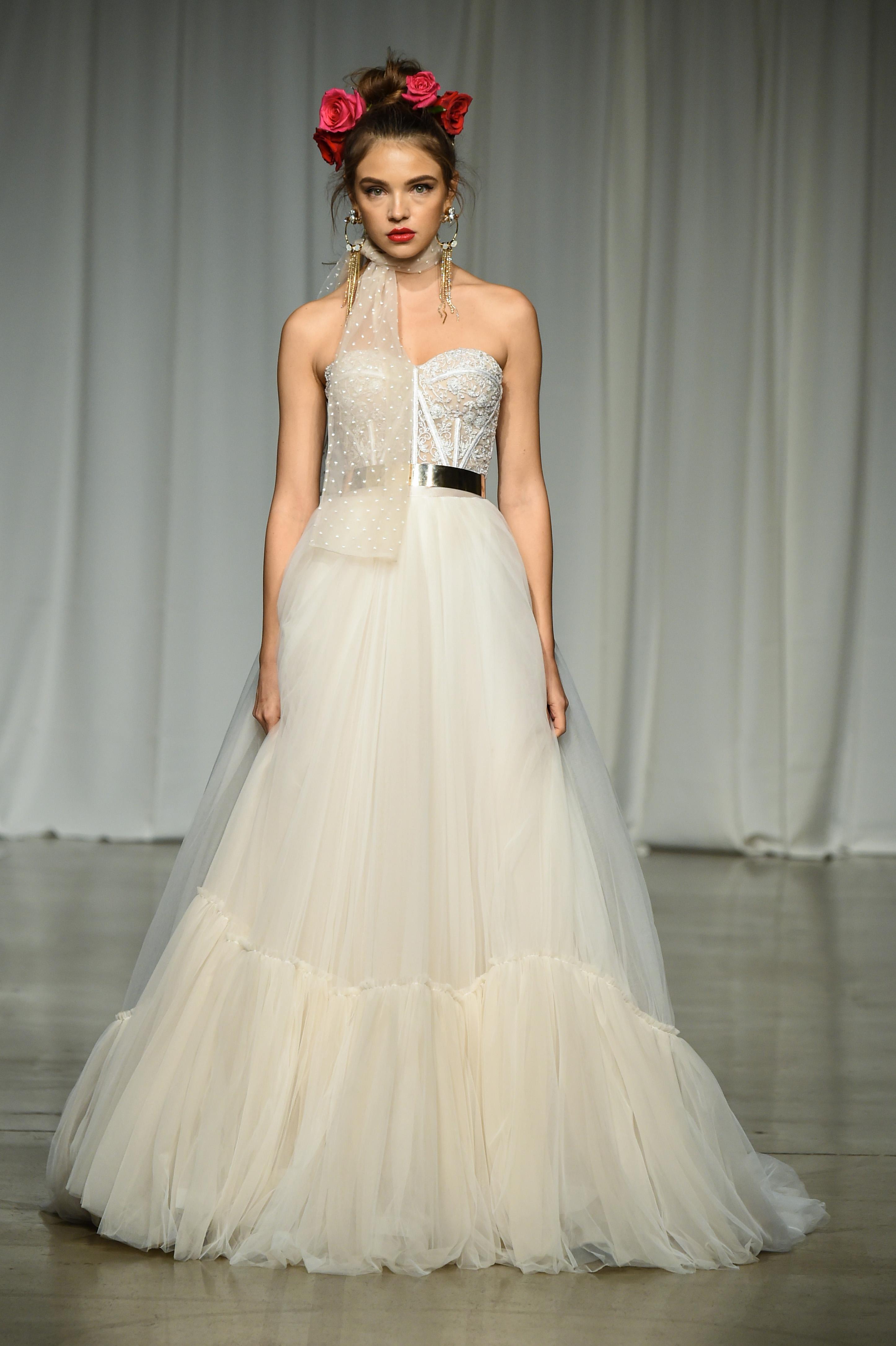 julie vino group fall 2019 strapless bell ball gown wedding dress