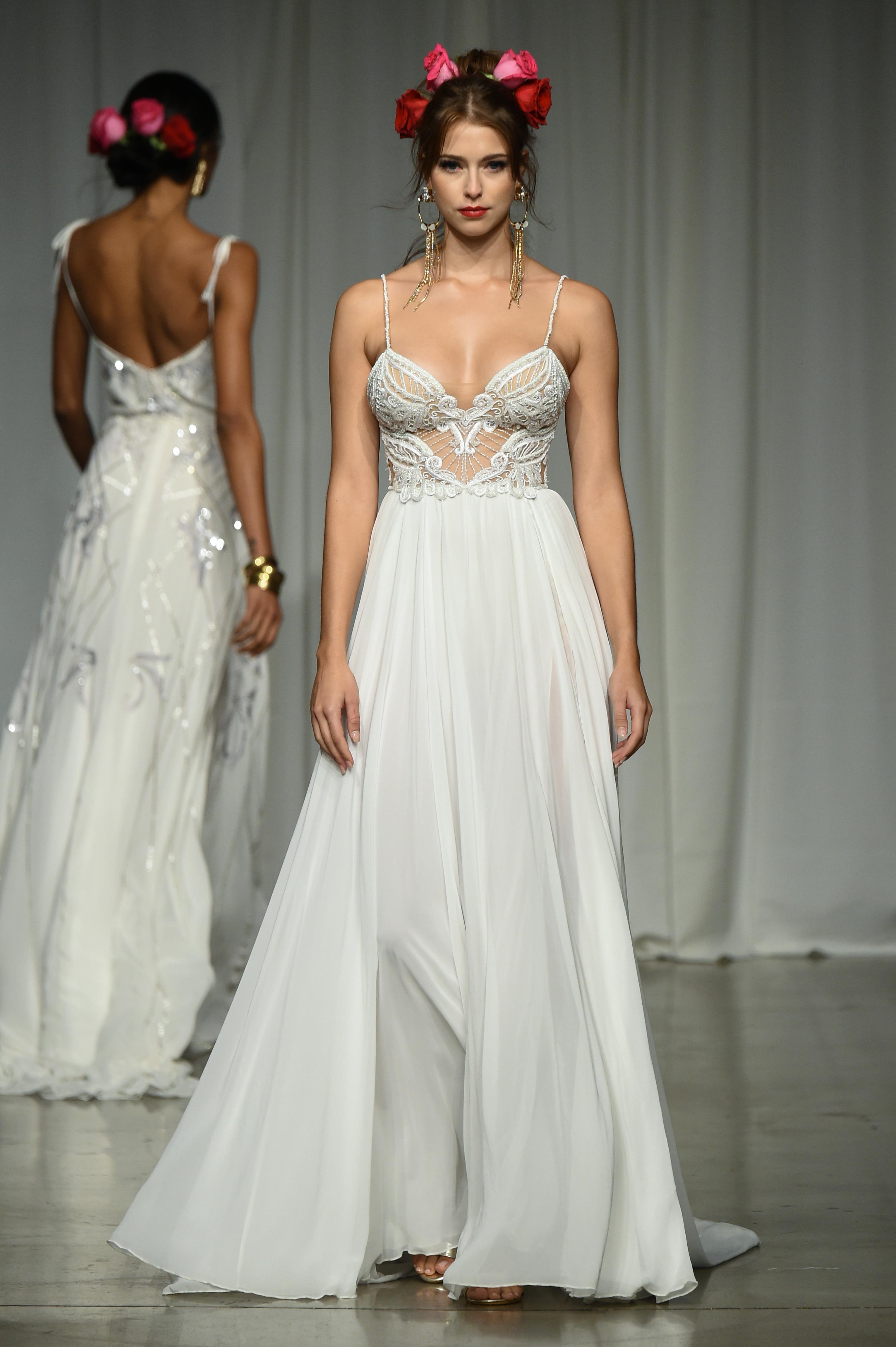 julie vino group fall 2019 a-line spaghetti strap wedding dress