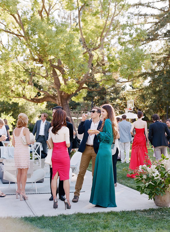 fall wedding guests emerald green