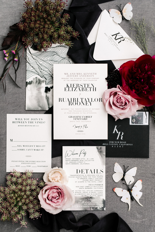 kiersten ruairi wedding invitation