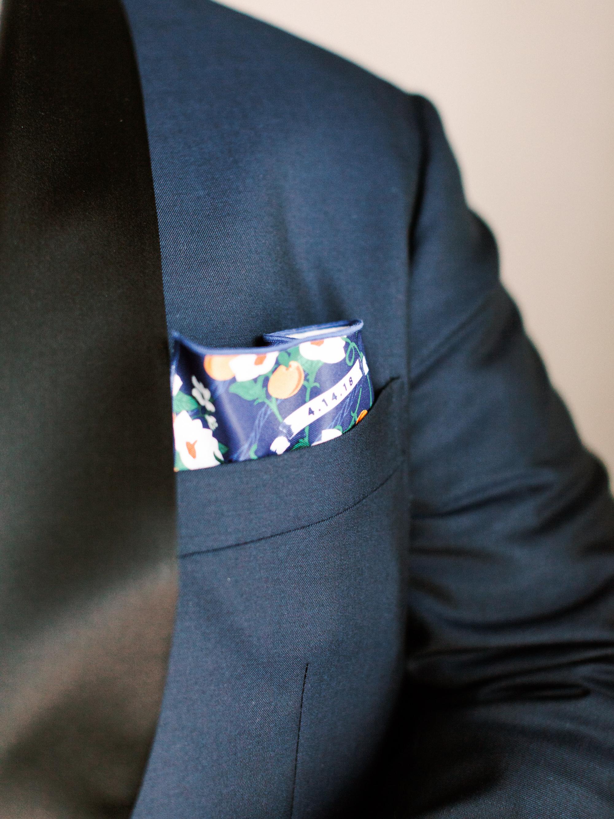kelly drew new jersey wedding groom pocket square