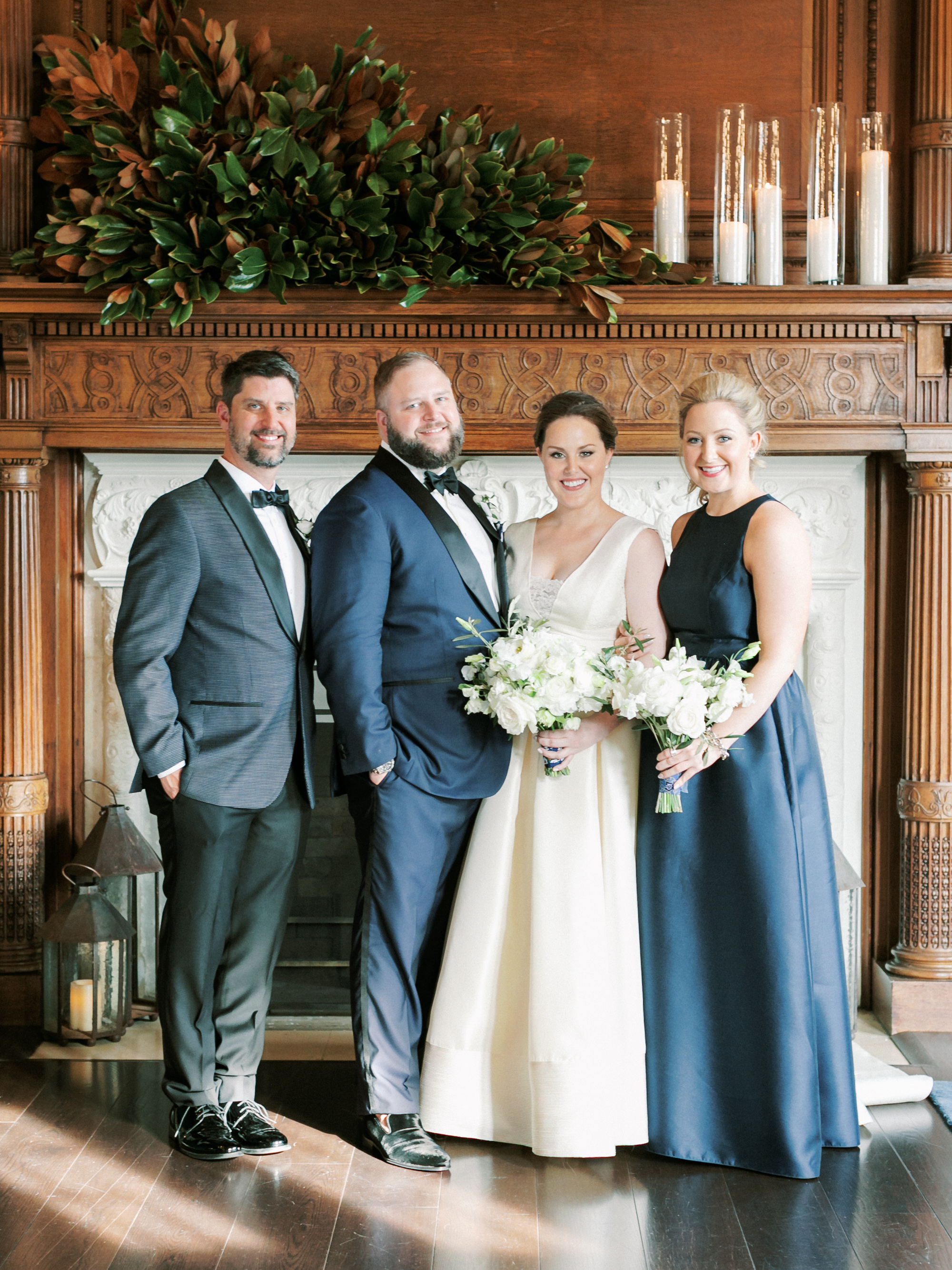 kelly drew new jersey maid of honor best man with couple