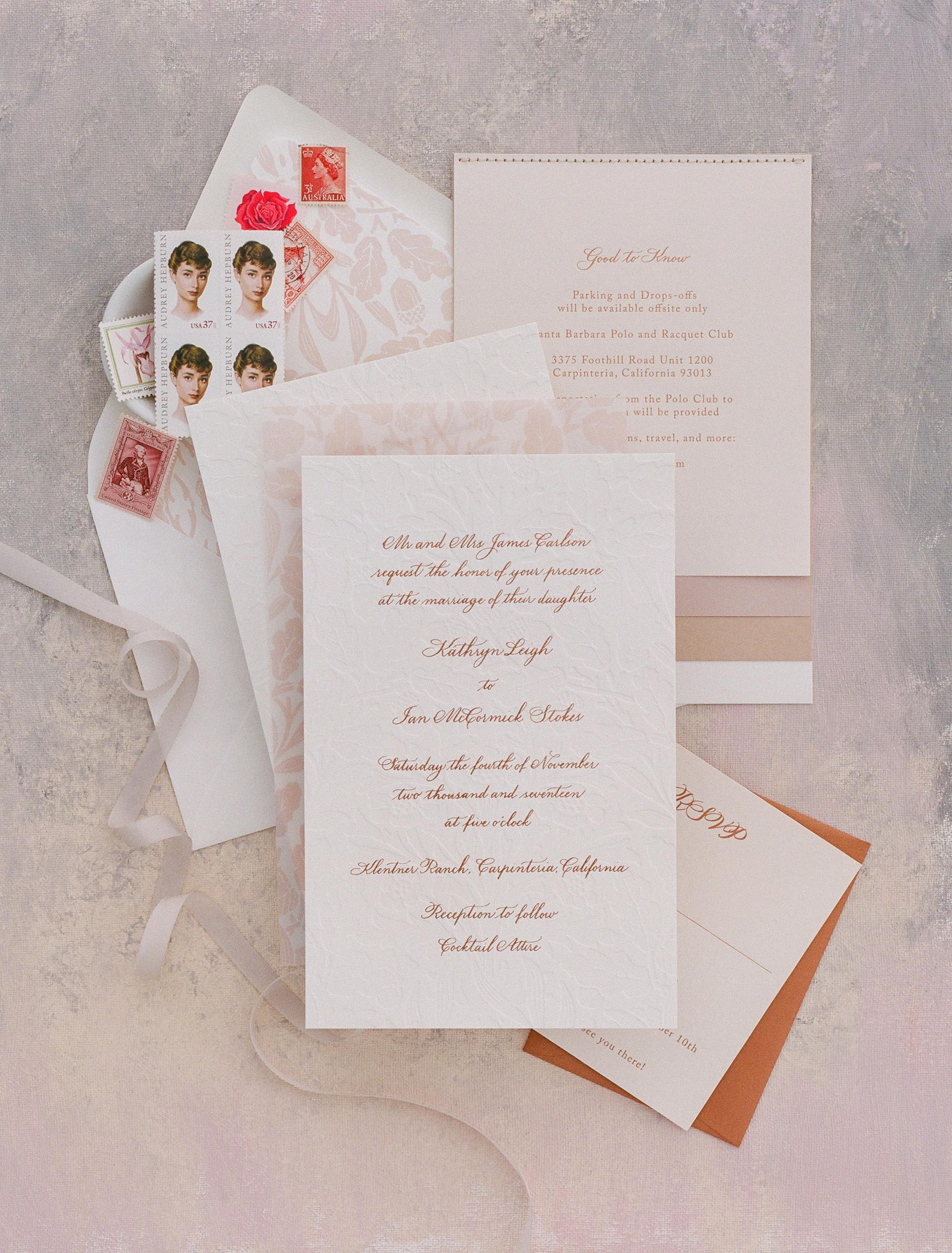 kathryn ian wedding invite