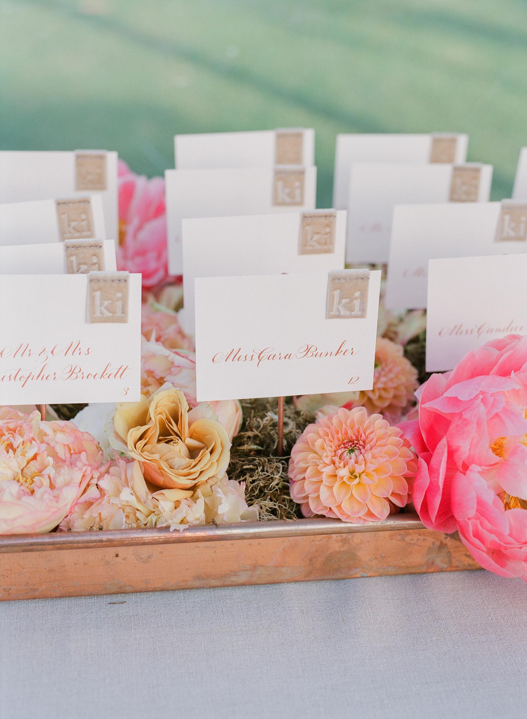 kathryn ian wedding escort cards