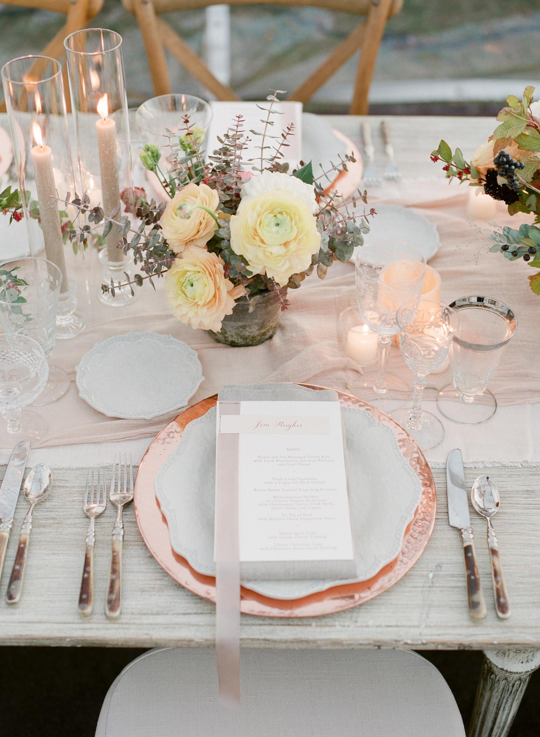 kathryn ian wedding place setting