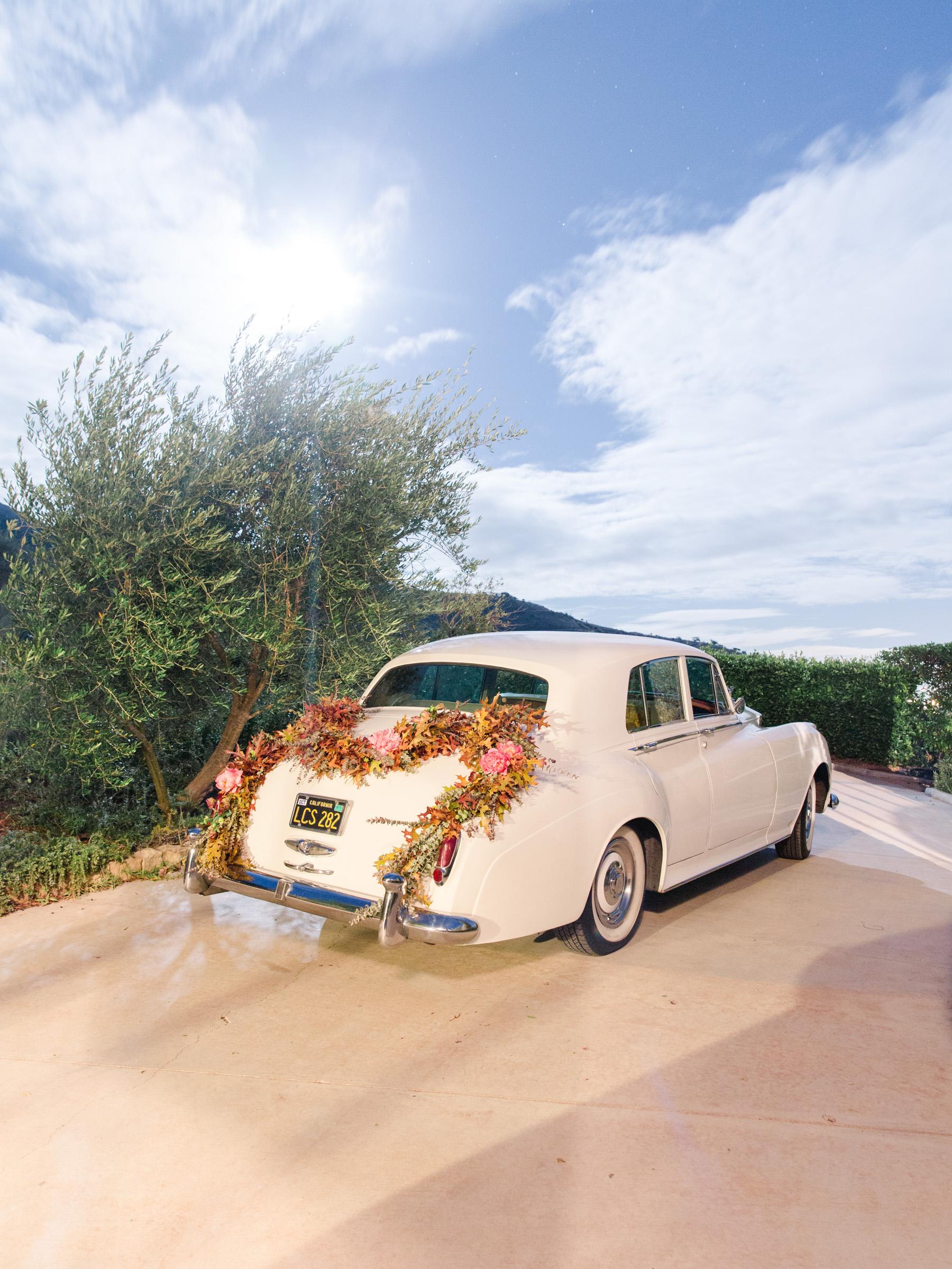 kathryn ian wedding getaway car