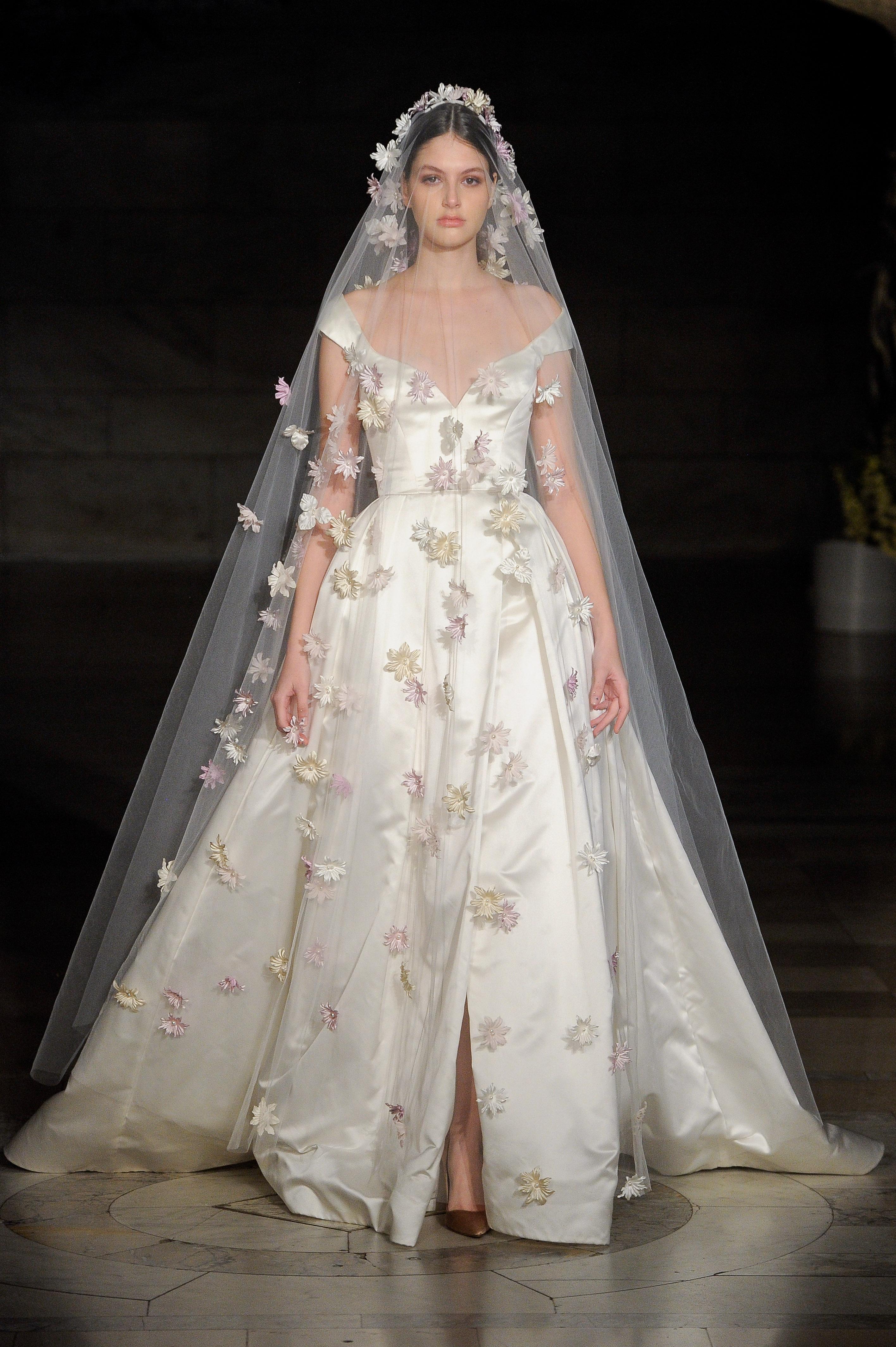 reem acra fall 2019 sheer ball gown wedding dress