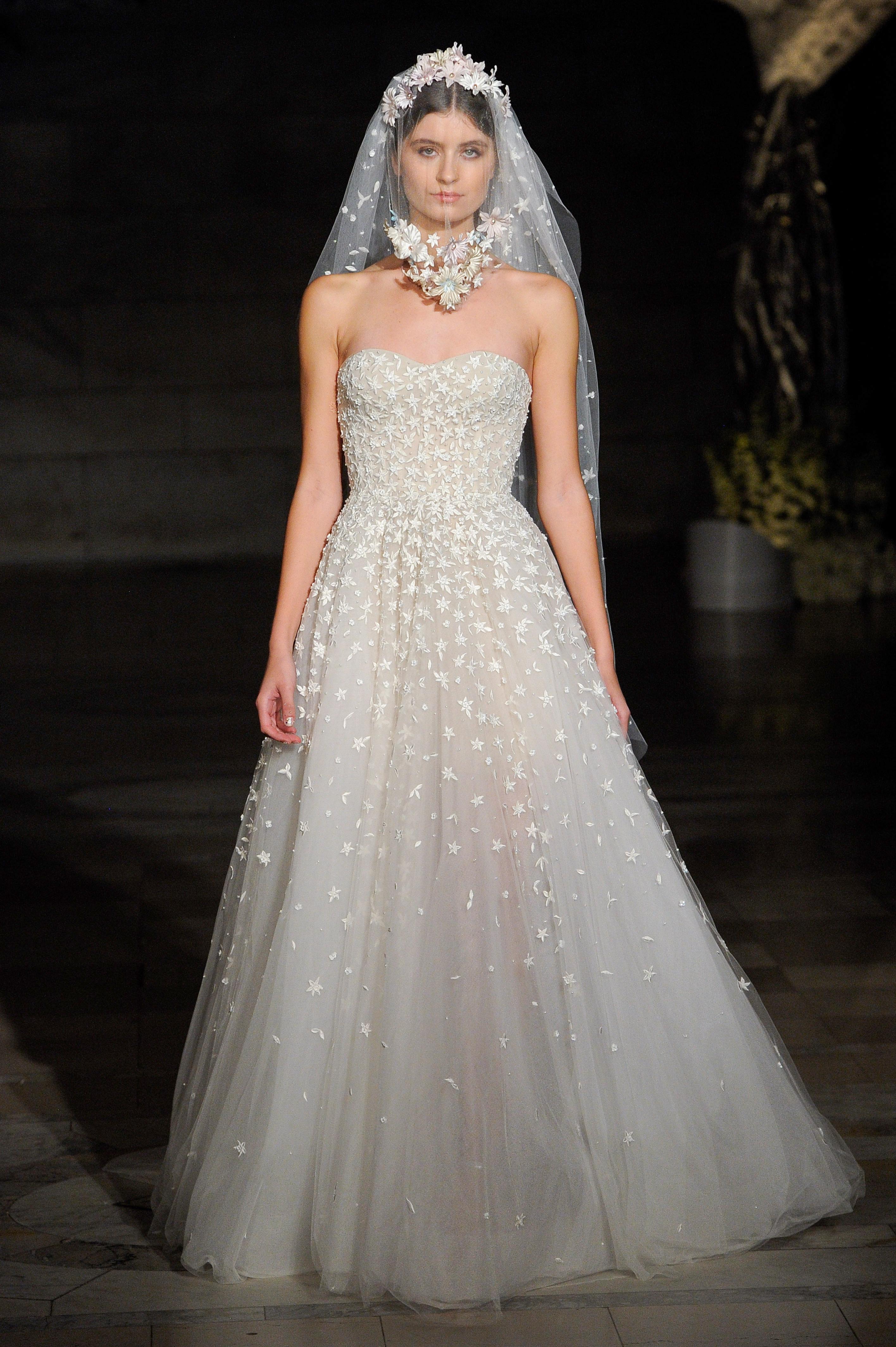 reem acra fall 2019 sheath strapless wedding dress