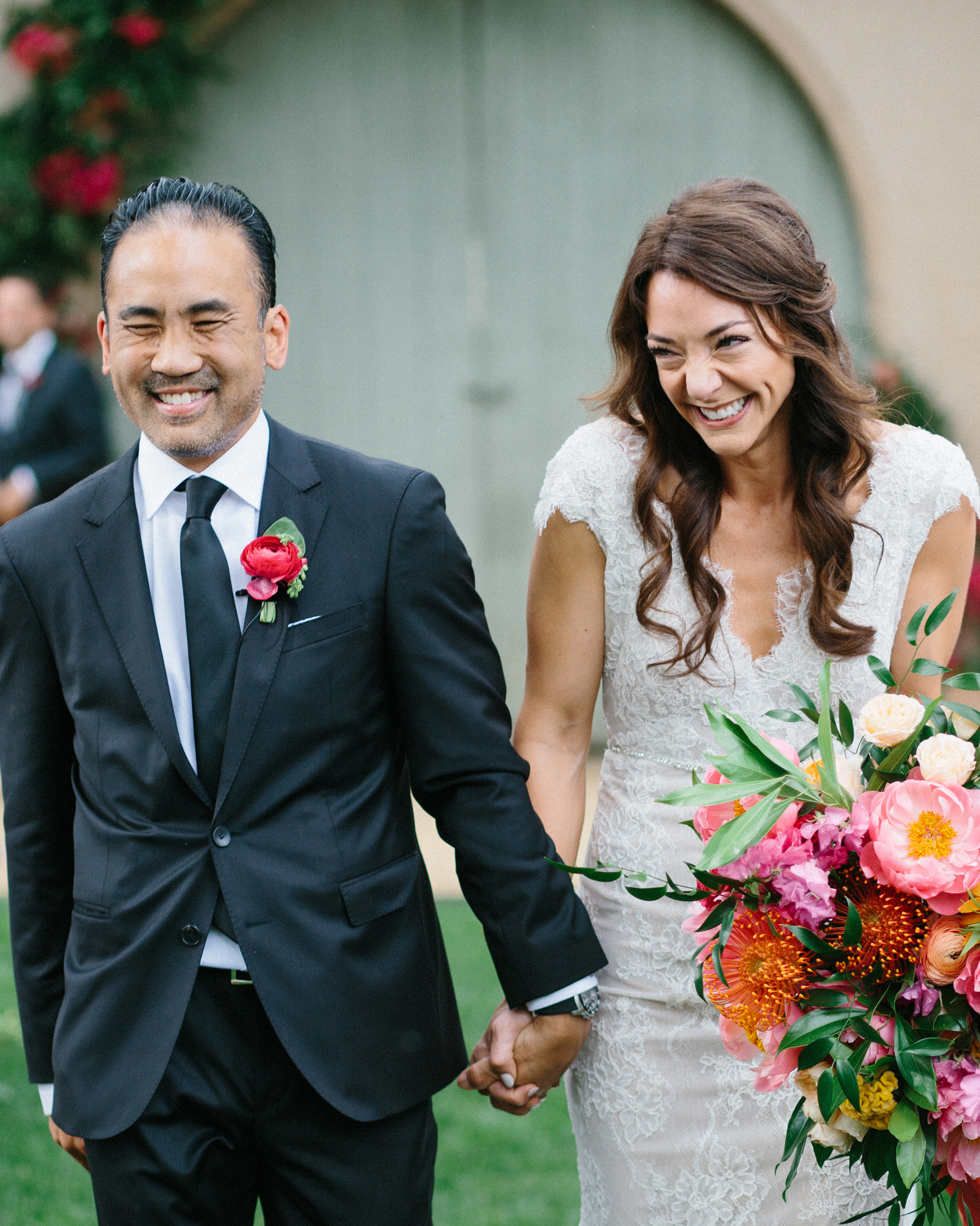 amy mark california wedding recessional