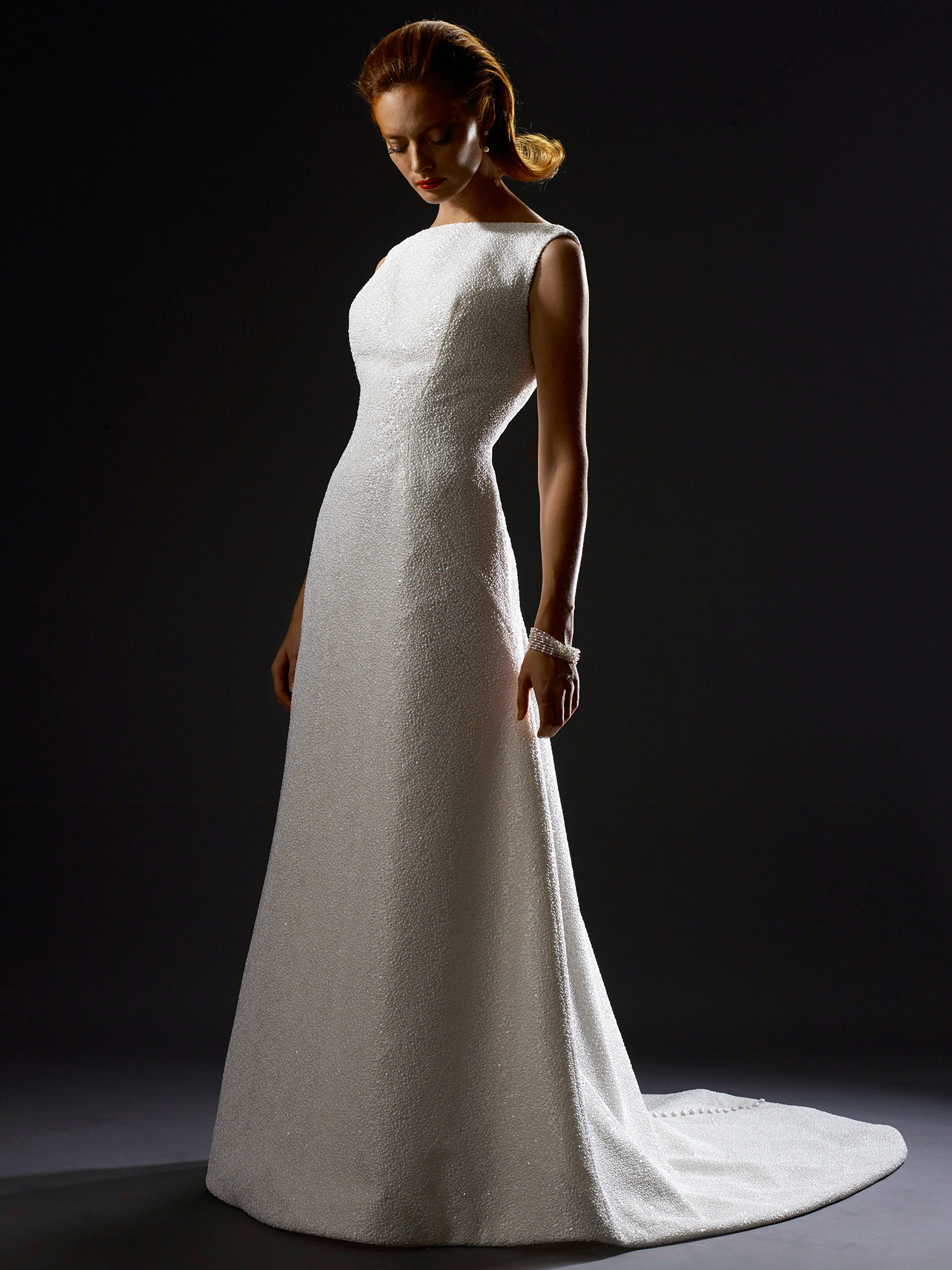 steven birnbaum fall 2019 high neck trumpet wedding dress