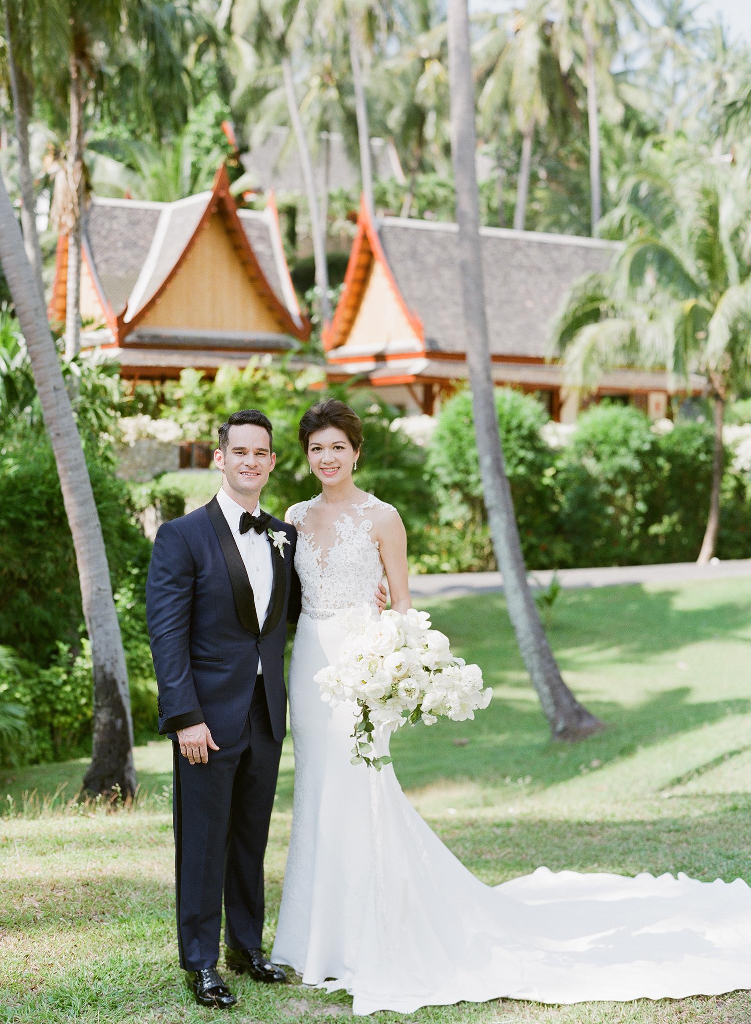 stacy brad wedding couple