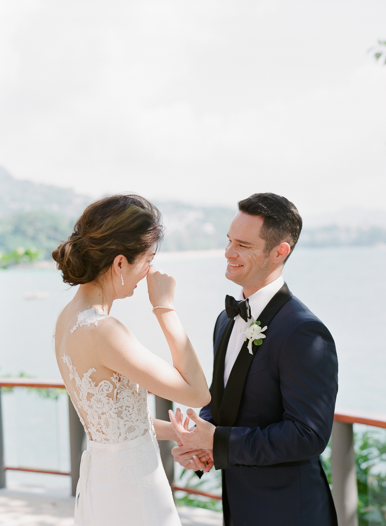 stacy brad wedding thailand first look