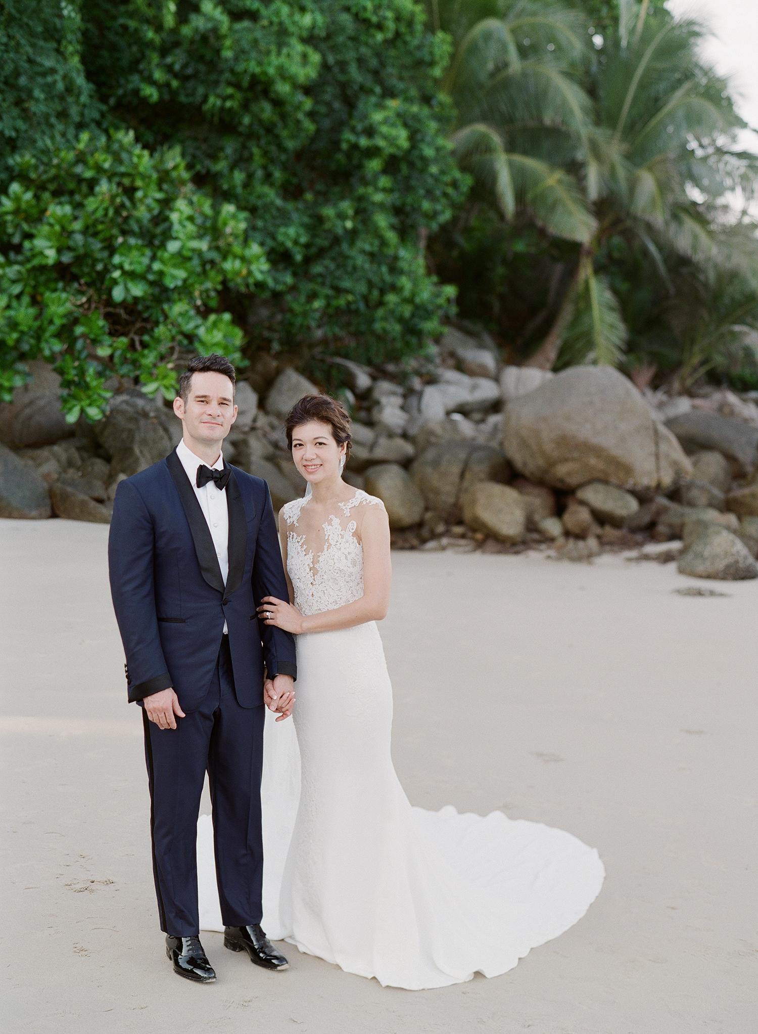 stacy brad wedding thailand couple on the beach