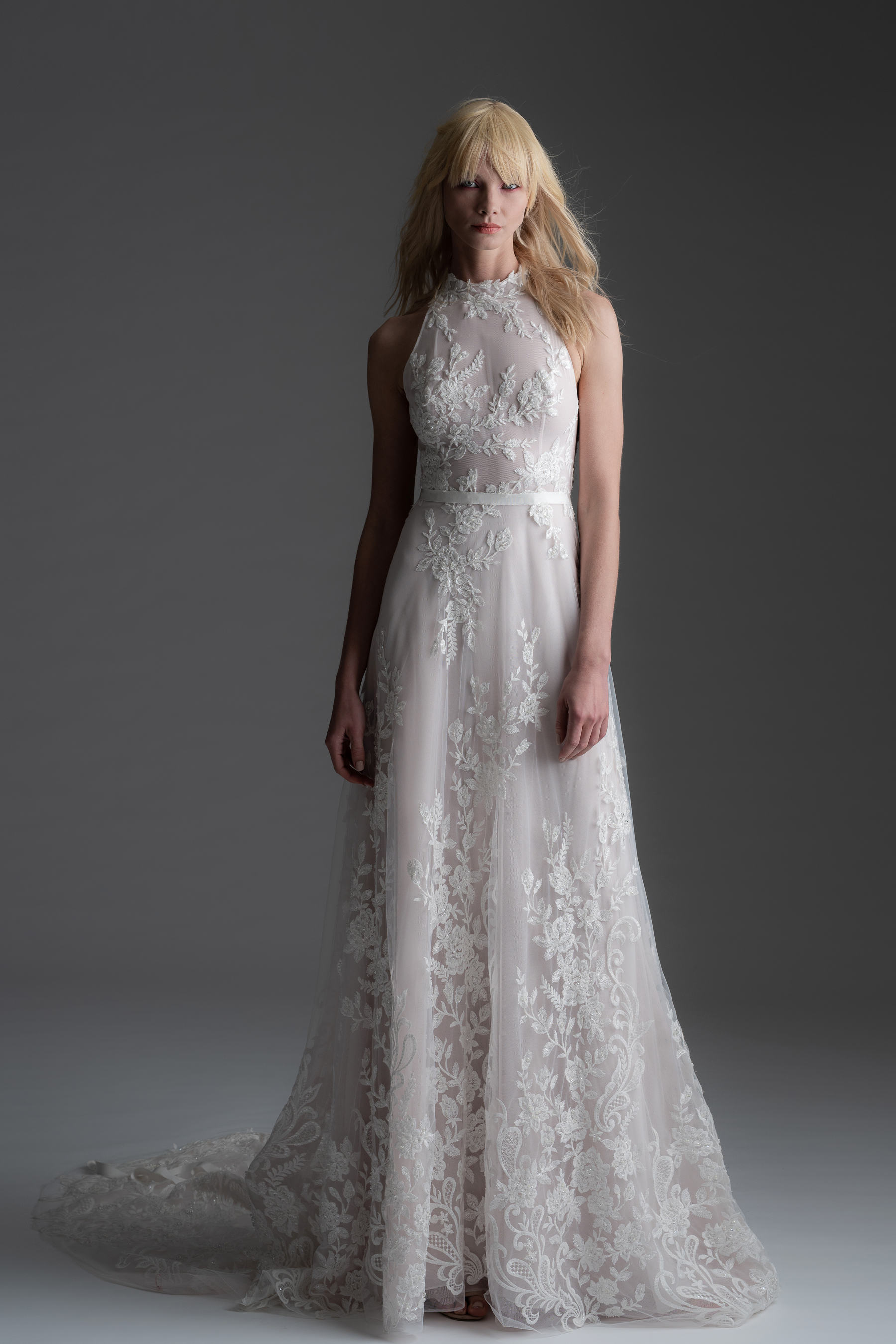 alyne rita vinieris fall 2019 lace halter sheath