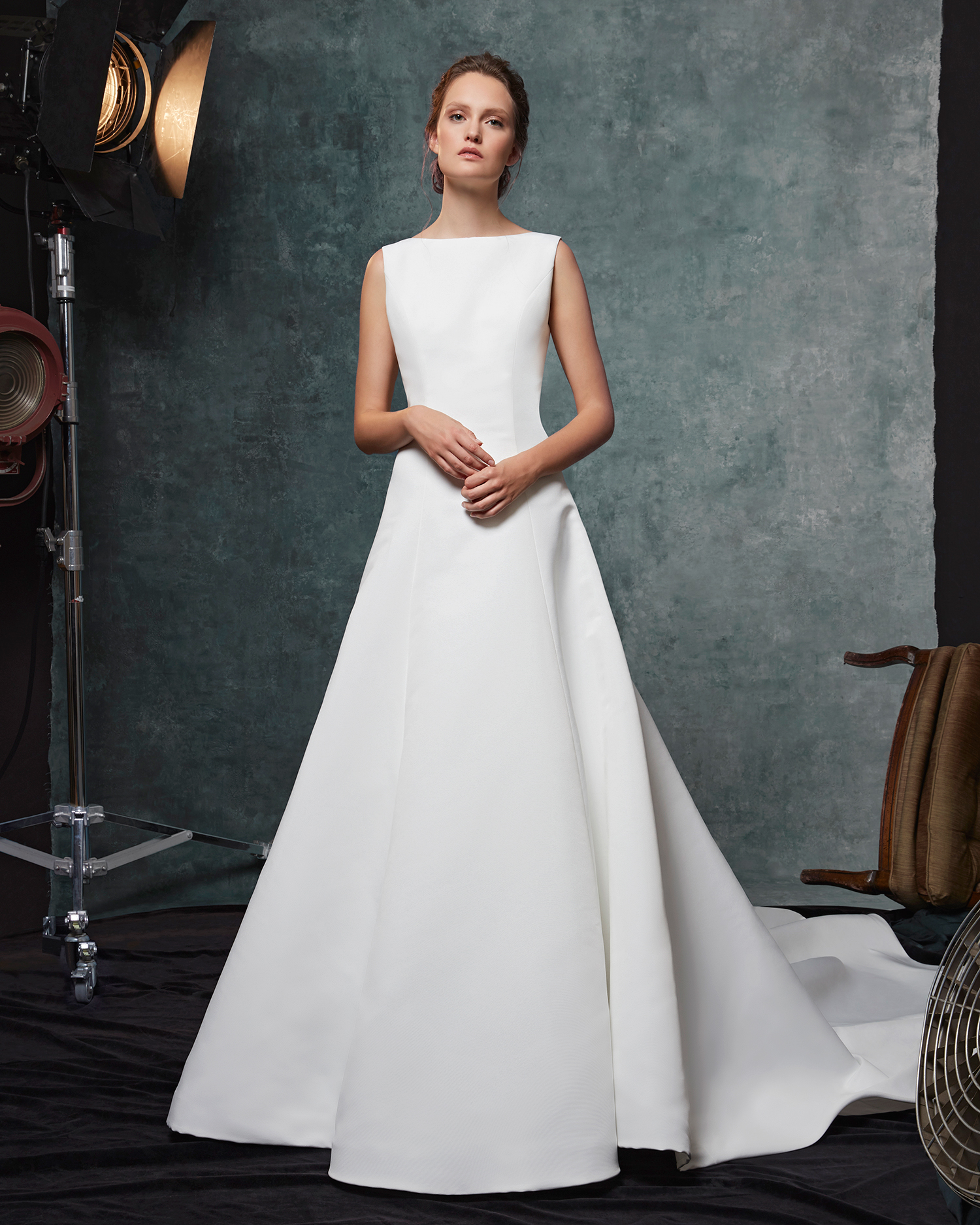 sareh nouri dress fall 2019 minimal boat neck a-line