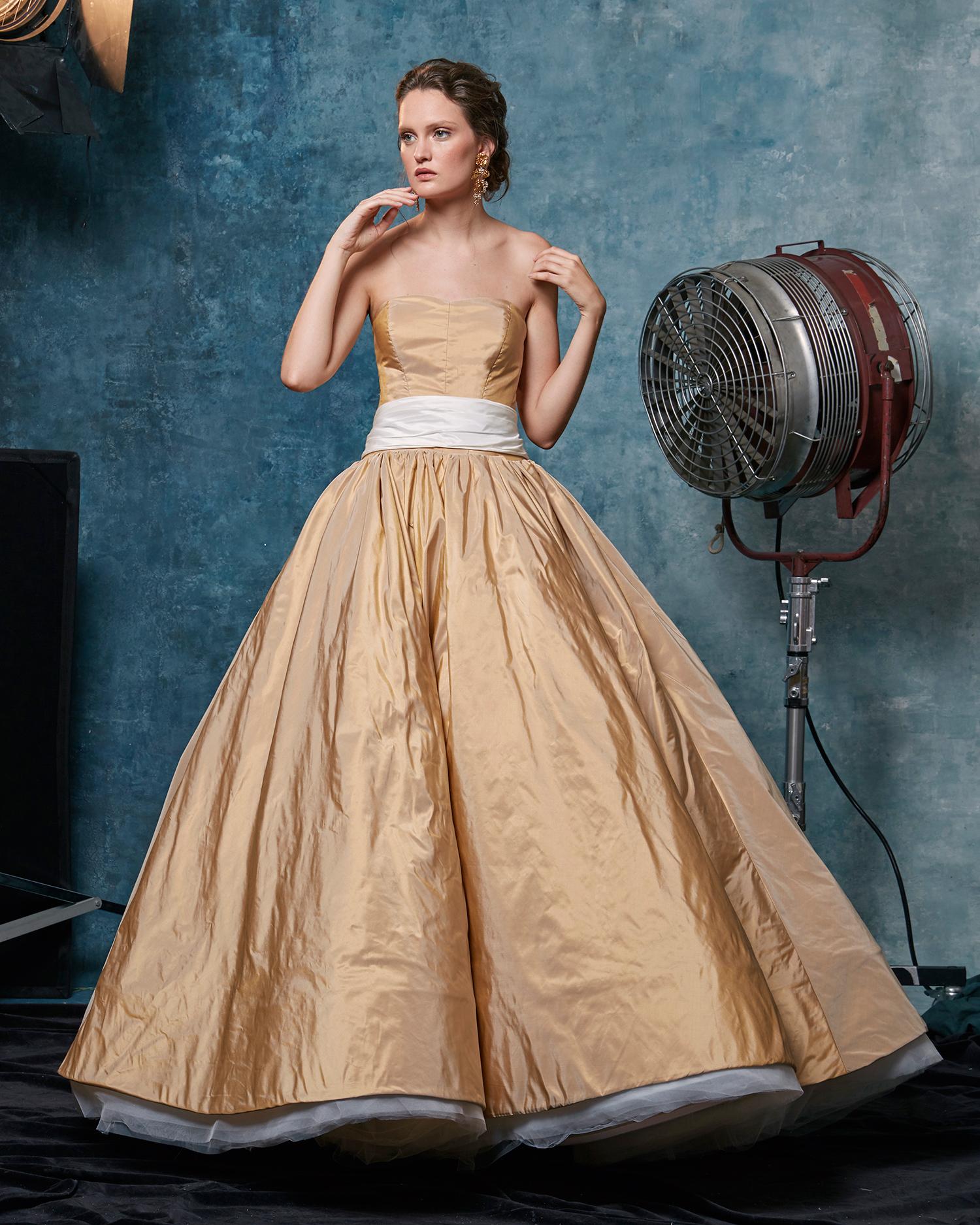 sareh nouri dress fall 2019 sand strapless ball gown