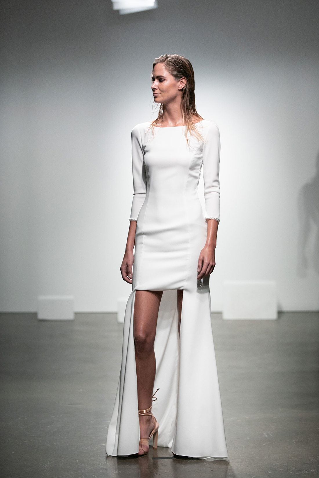 rime arodaky fall 2019 high low bateau three quarter sleeve simple