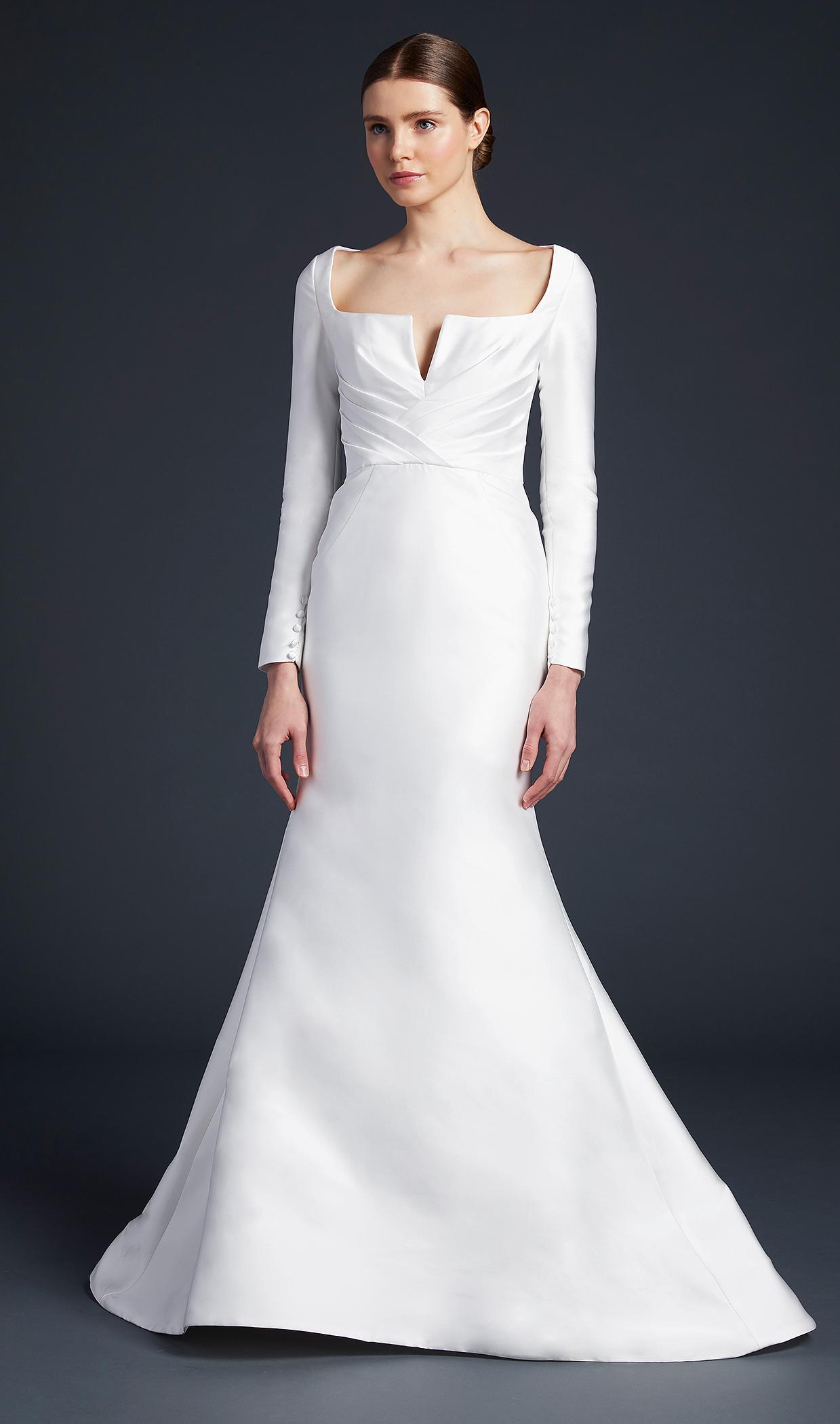 anne barge long sleeves trumpet wedding dress fall 2019