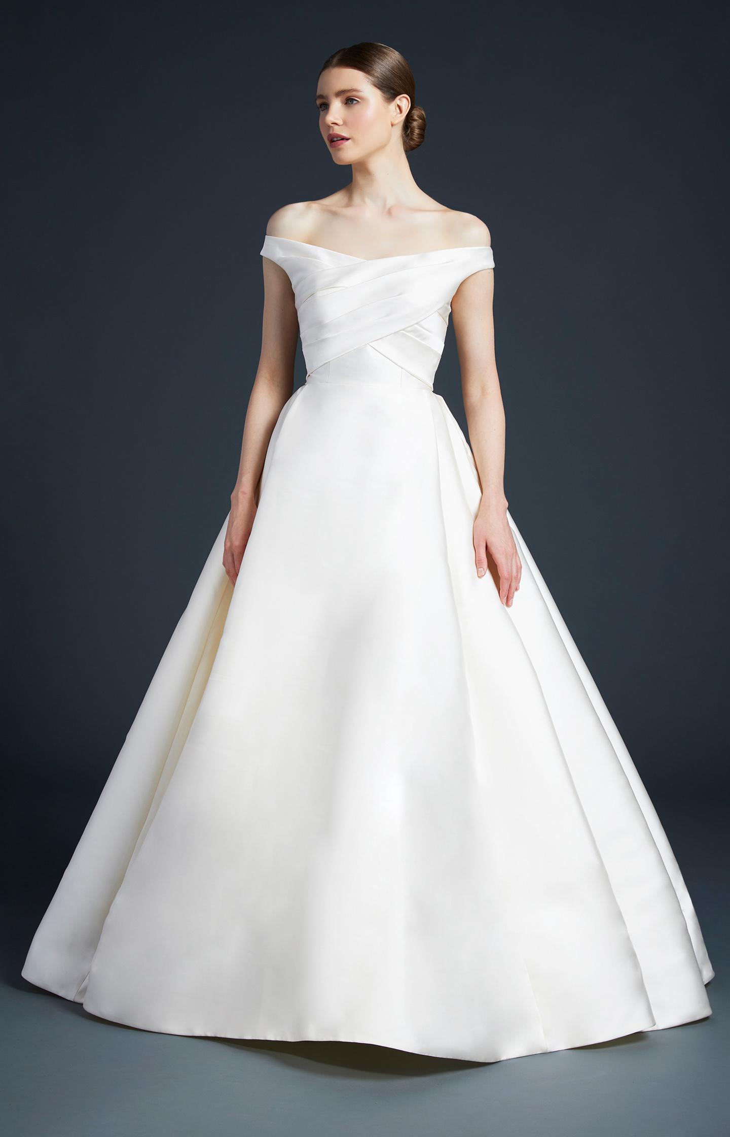 anne barge off the shoulder wedding dress fall 2019