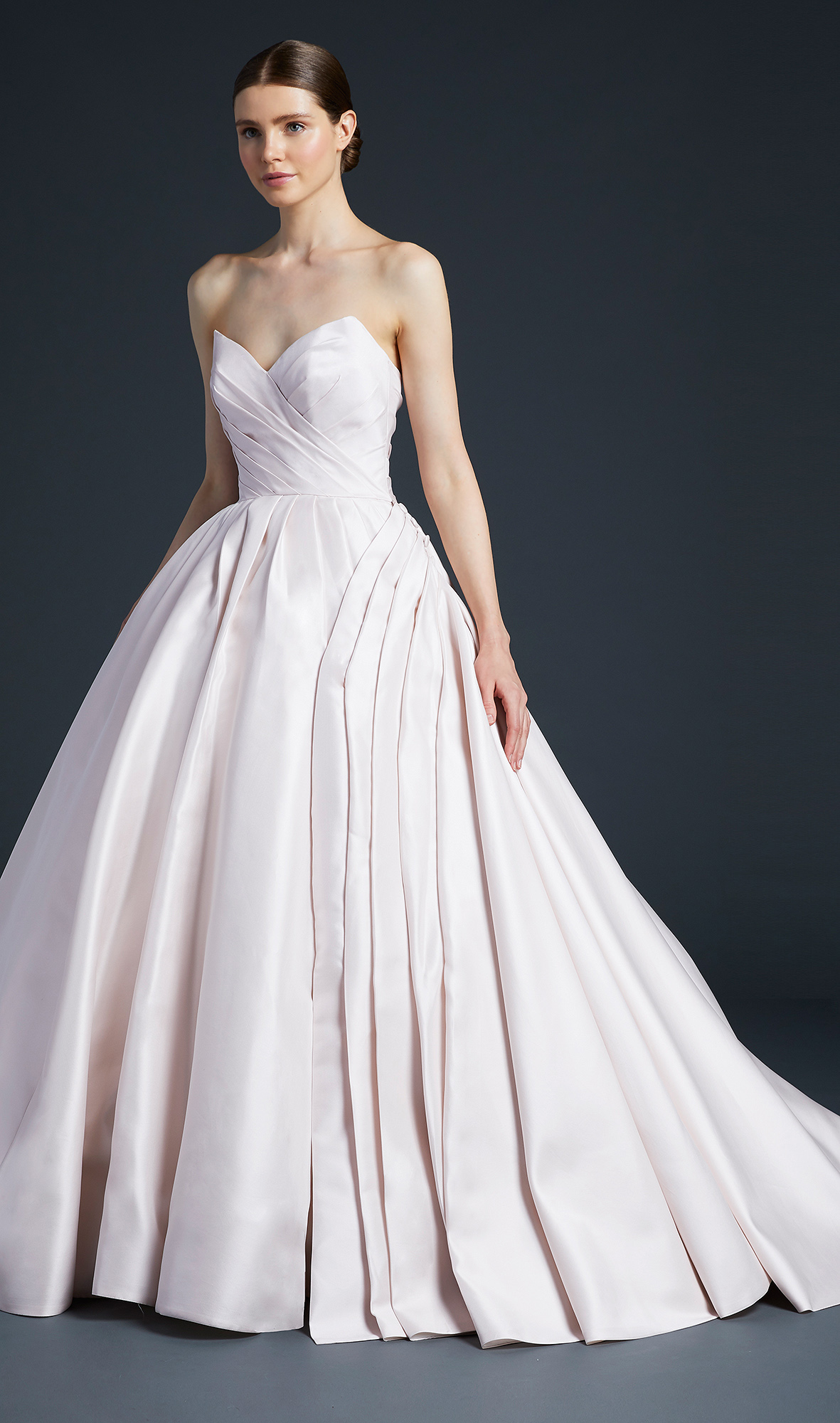 anne barge pleated sweetheart wedding dress fall 2019