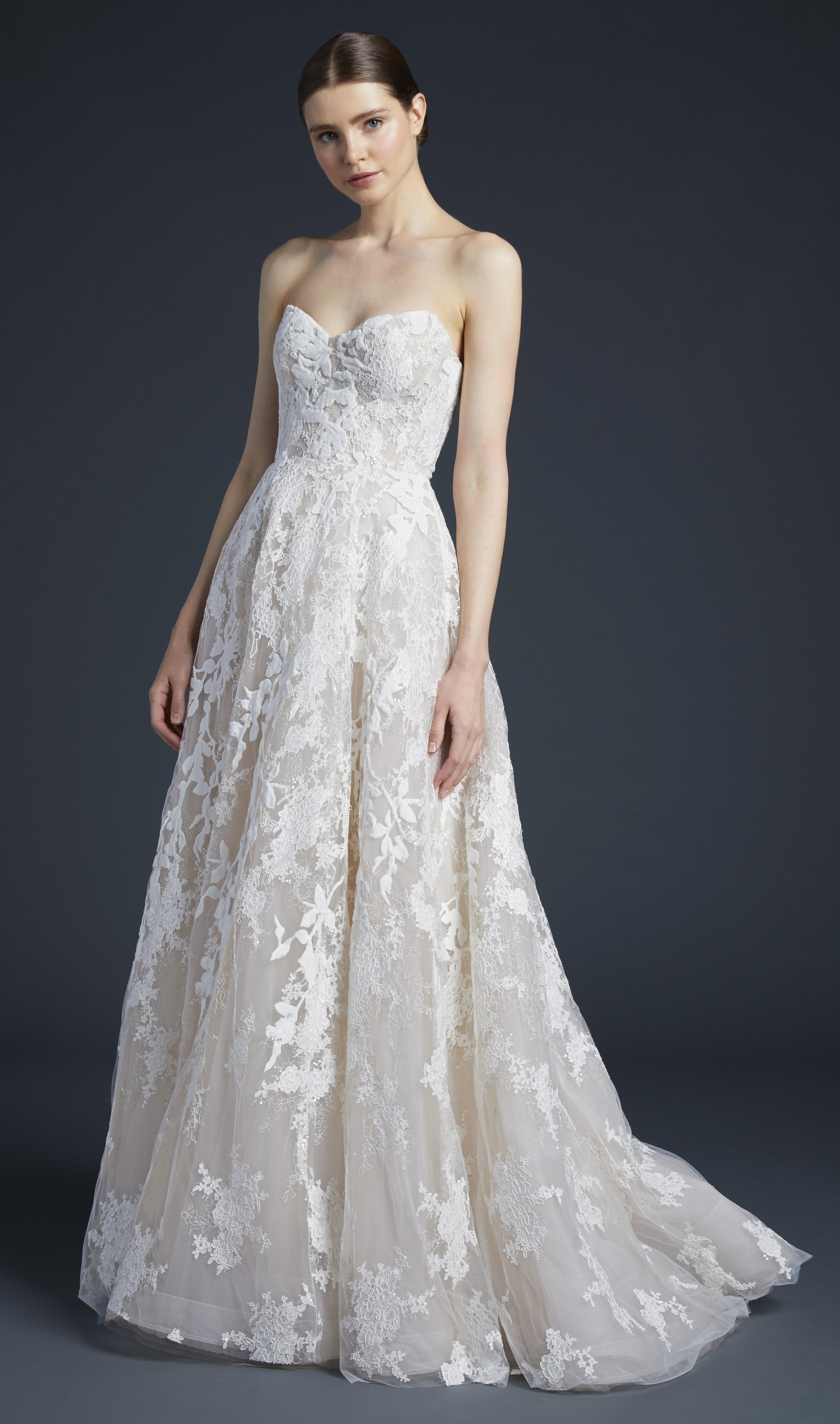 anne barge lace sweetheart wedding dress fall 2019