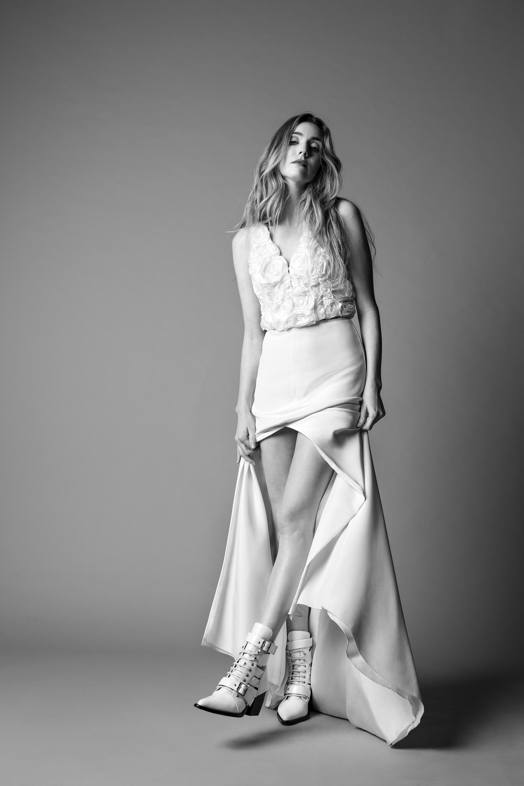 Lakum v-neck wedding dress fall 2019