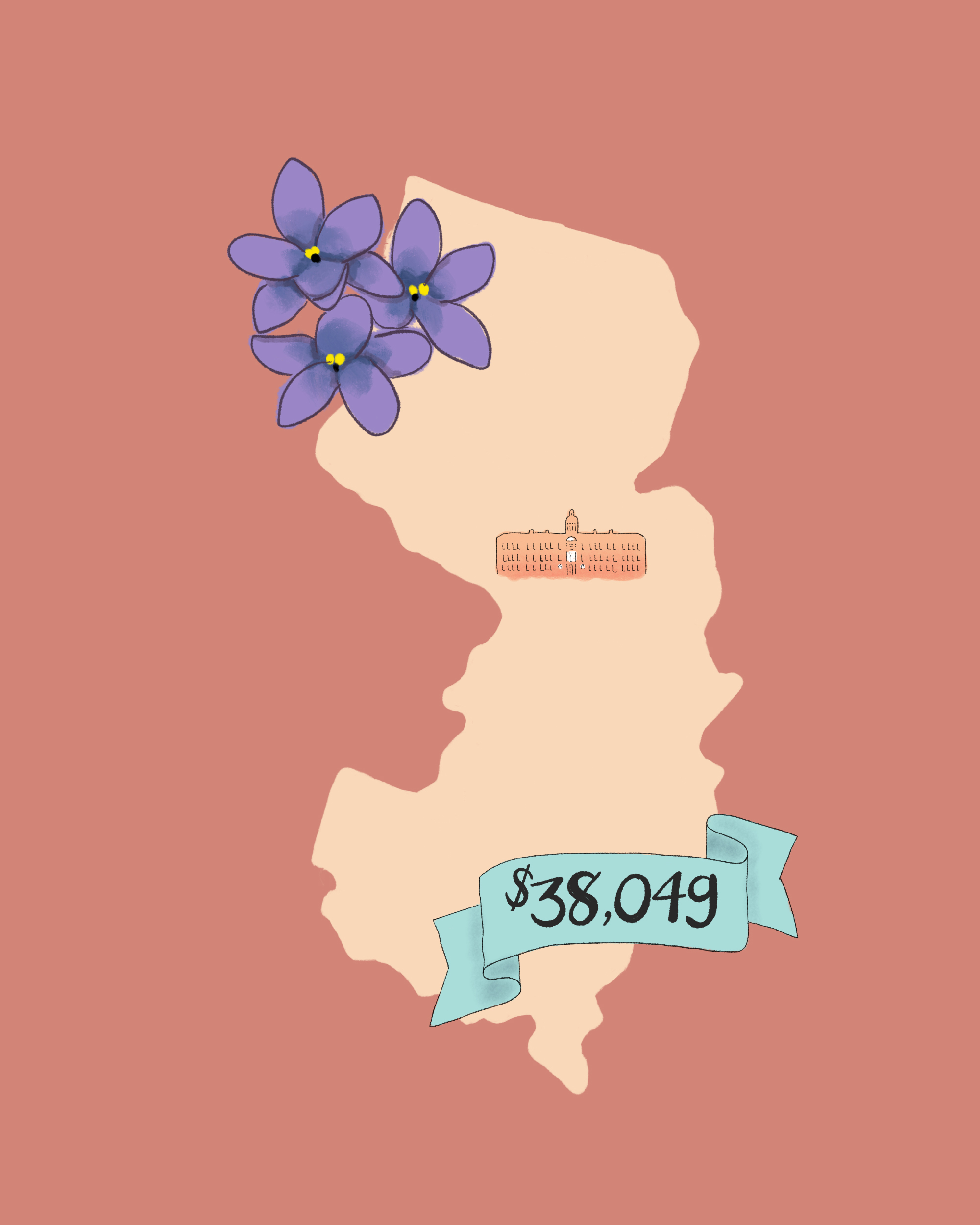 state wedding costs illustration new jersey