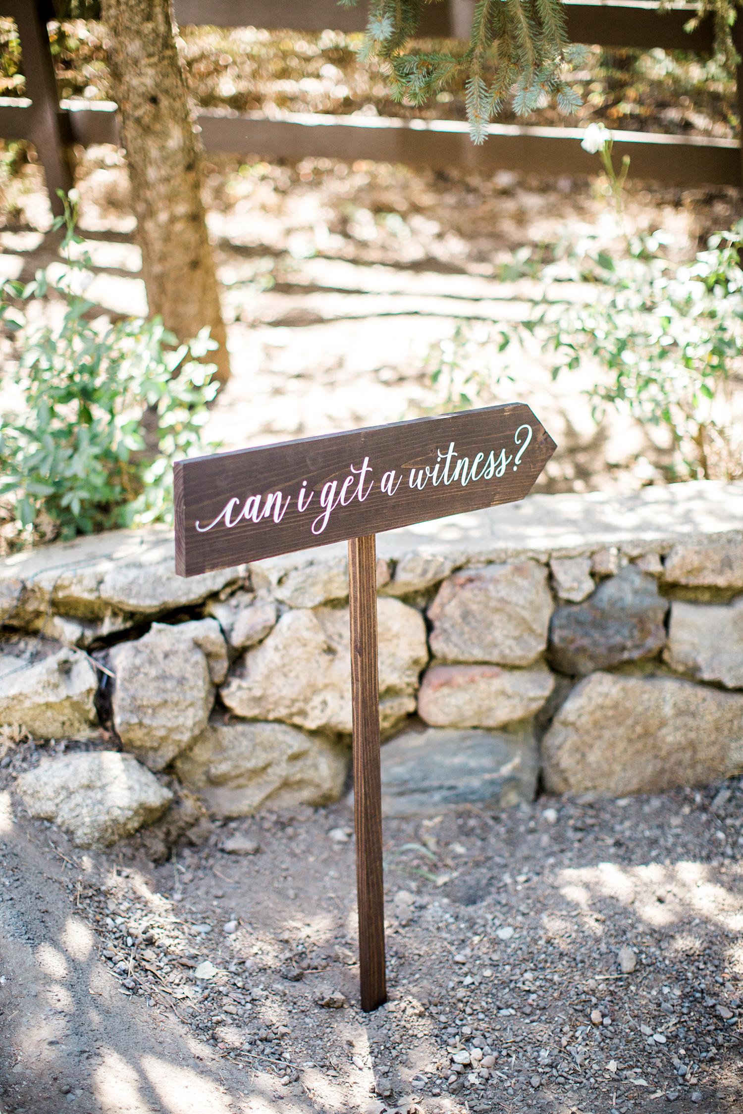 megan scott wedding signage