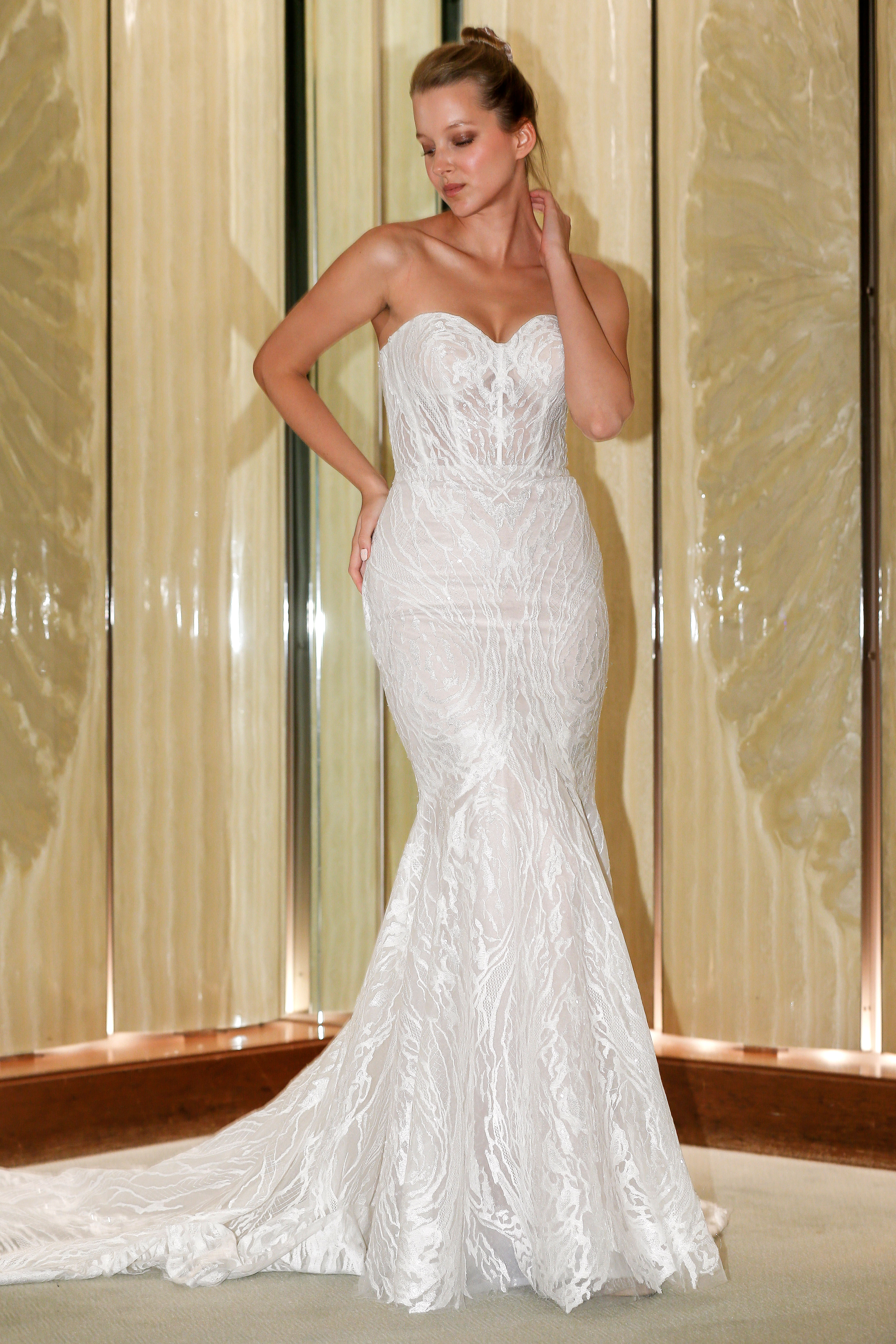 randy fenoli wedding dress sweetheart embellished trumpet