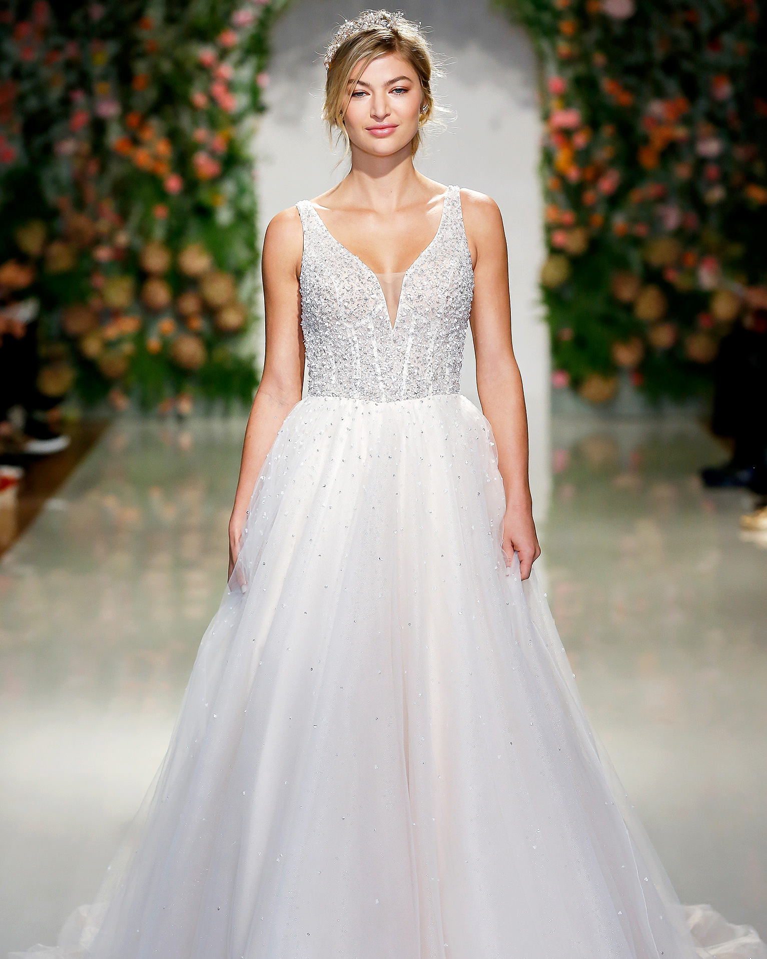 morilee madeline gardner wedding dress ball gown with beaded bodice