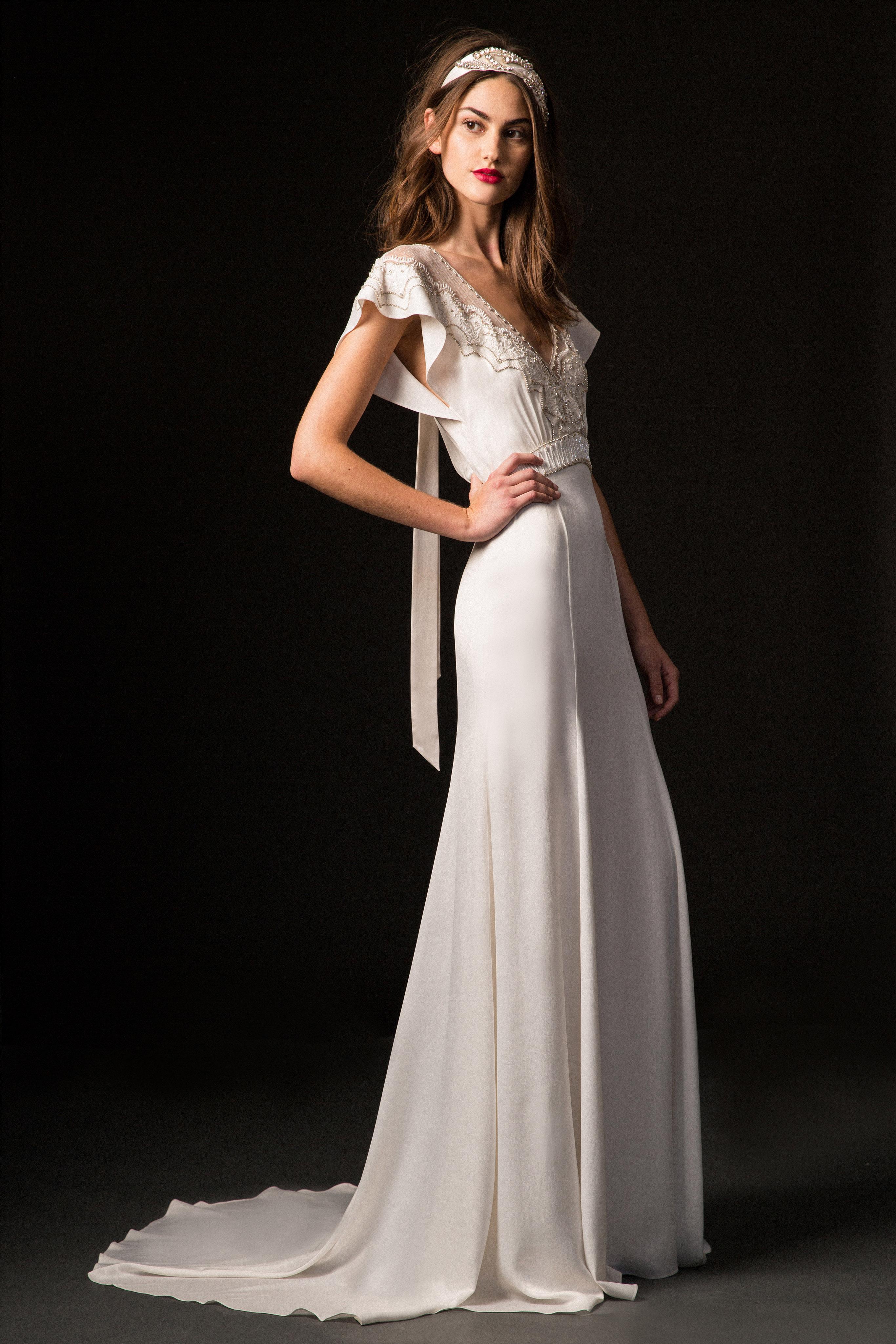 temperley fall 2019 cap sleeve sheath wedding dress
