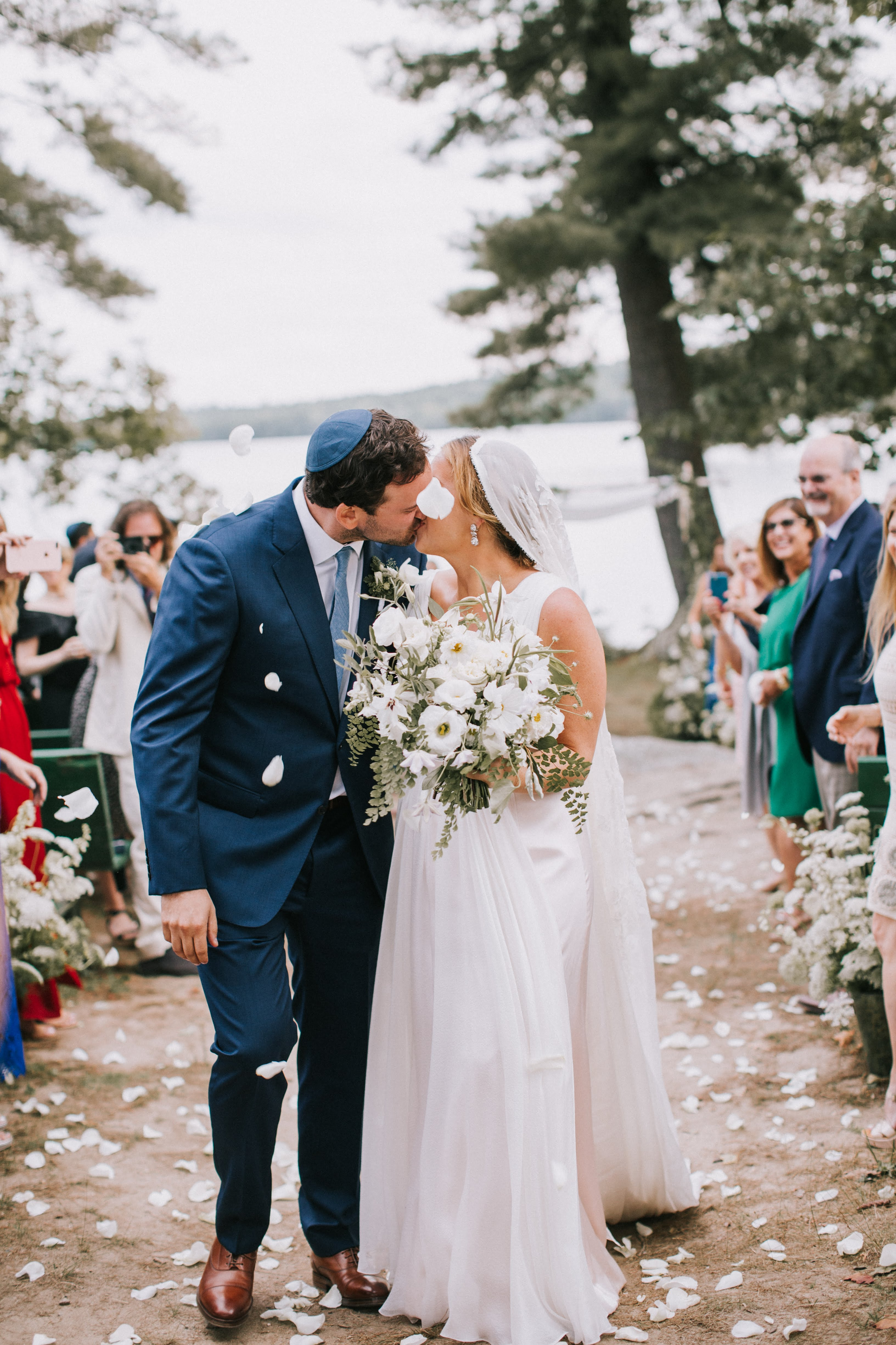 sofi ben camp wedding recessional kiss