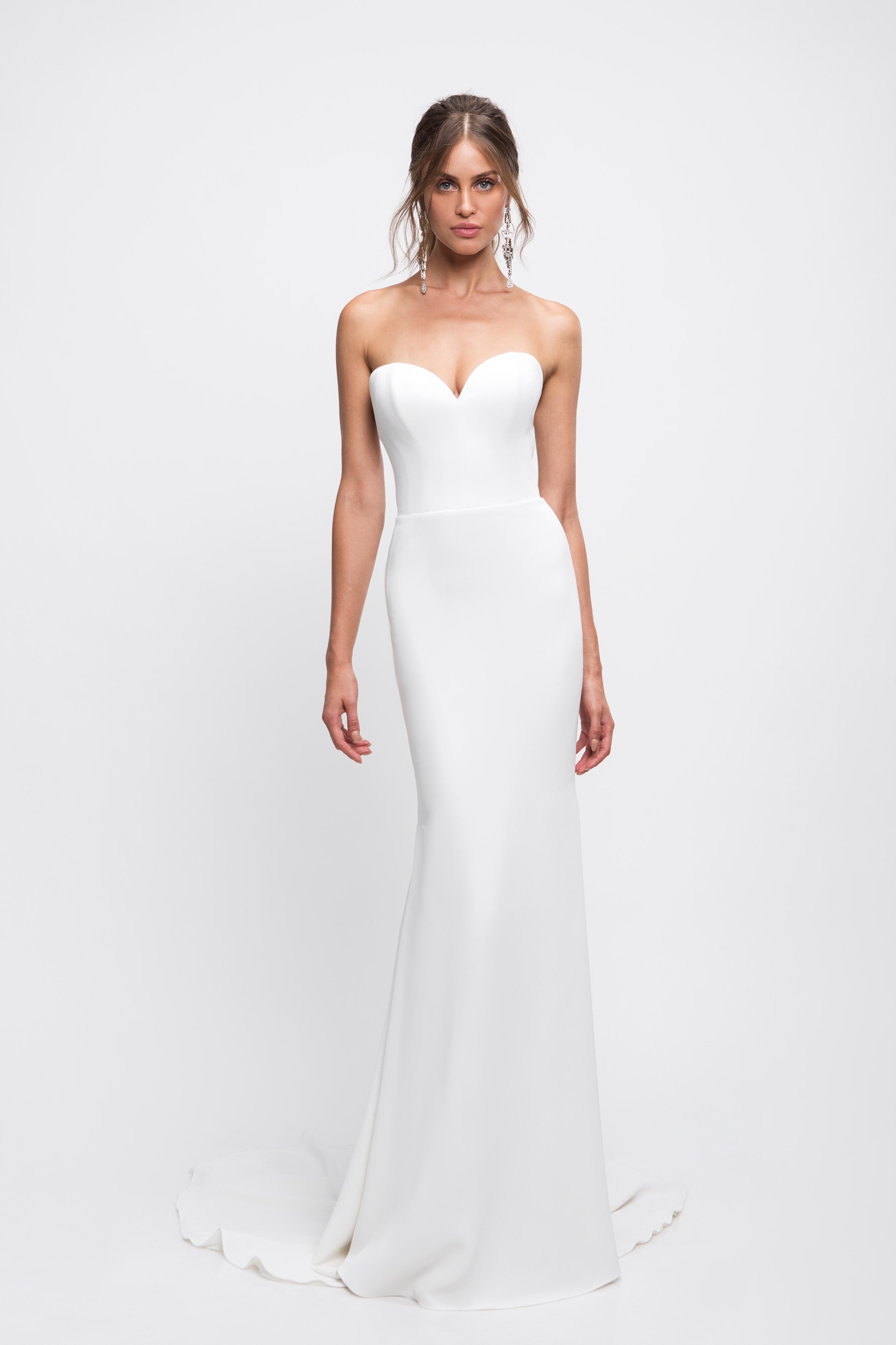 lihi hod wedding dress sweetheart strapless trumpet simple