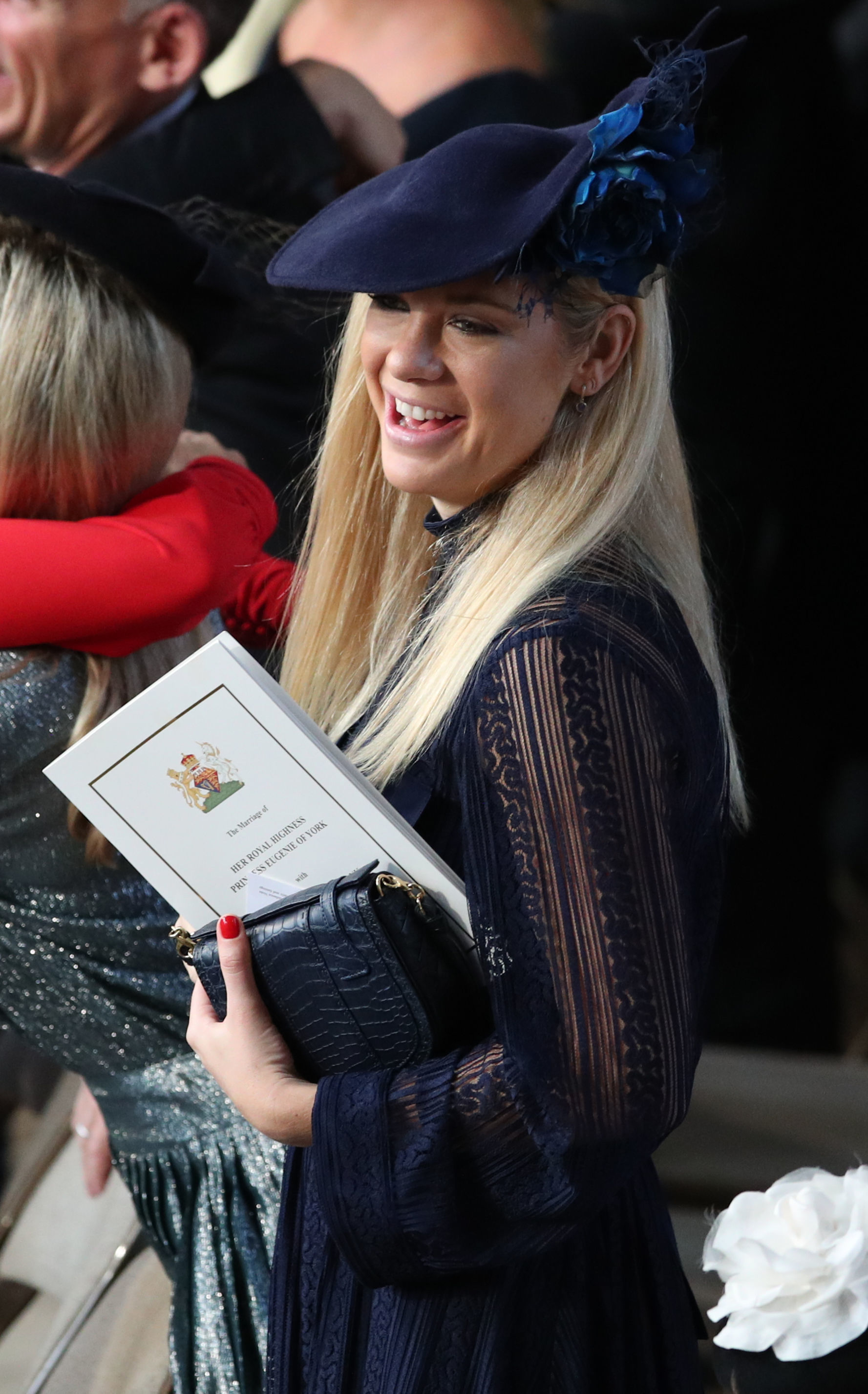 chelsy davy and princess eugenies wedding