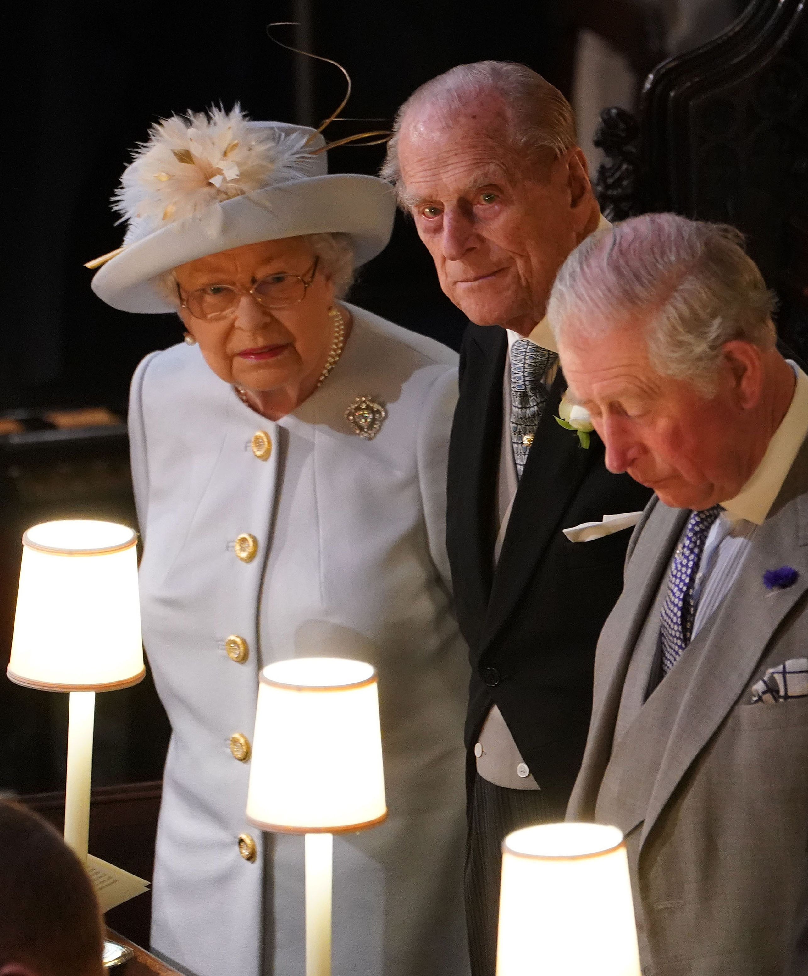 queen elizabeth and prince philip at princess eugenie royal wedding