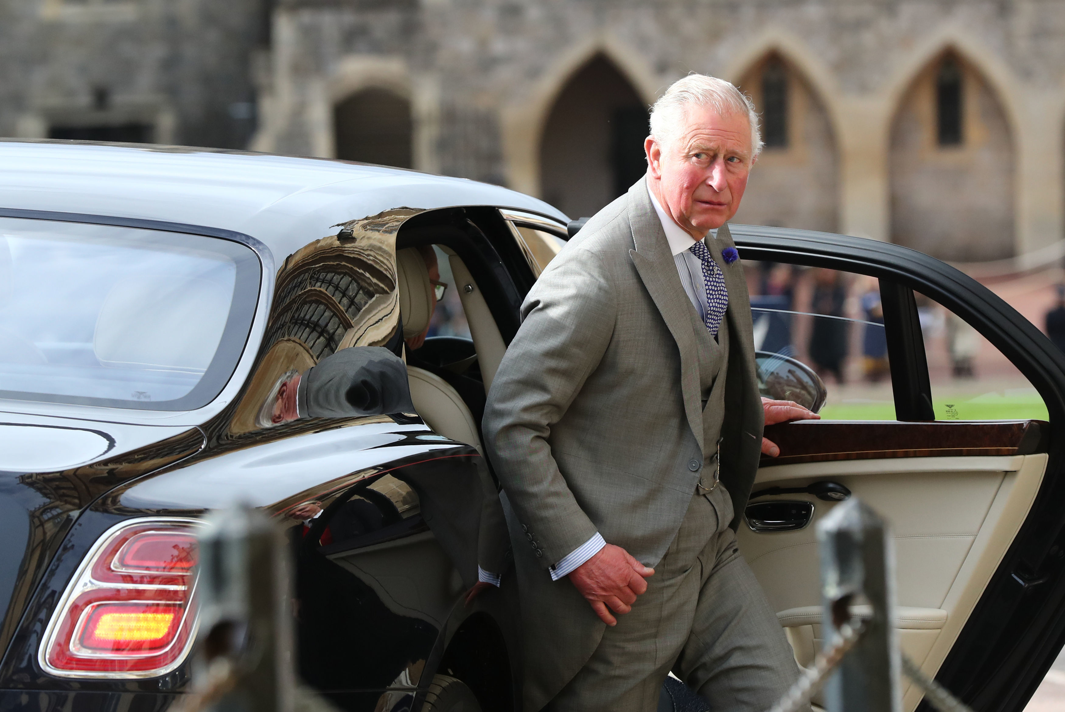 princes charles at princess eugenie royal wedding