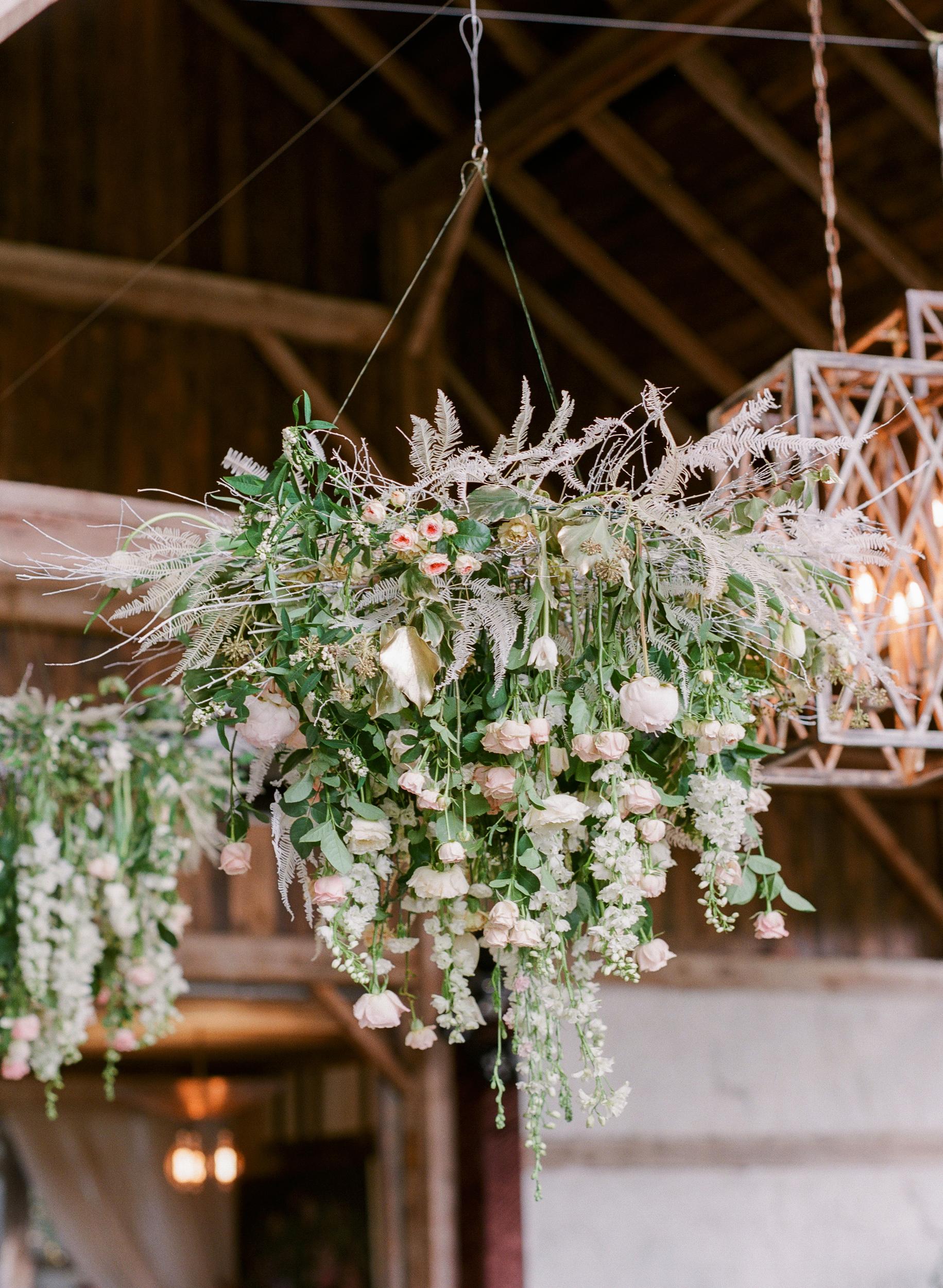 suzanne joseph wedding hanging flowers corbin gurkin
