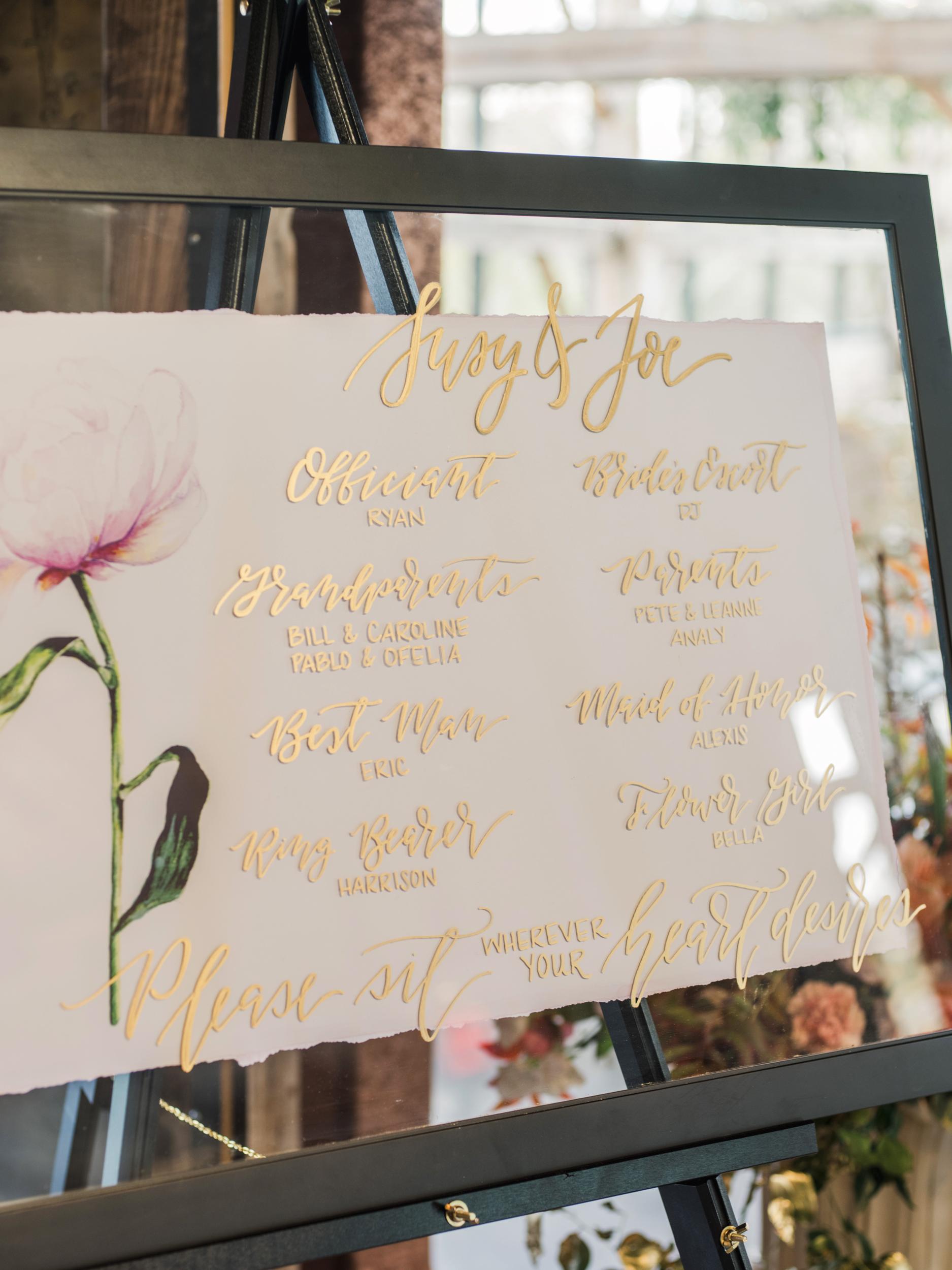 suzanne joseph wedding signage program corbin gurkin
