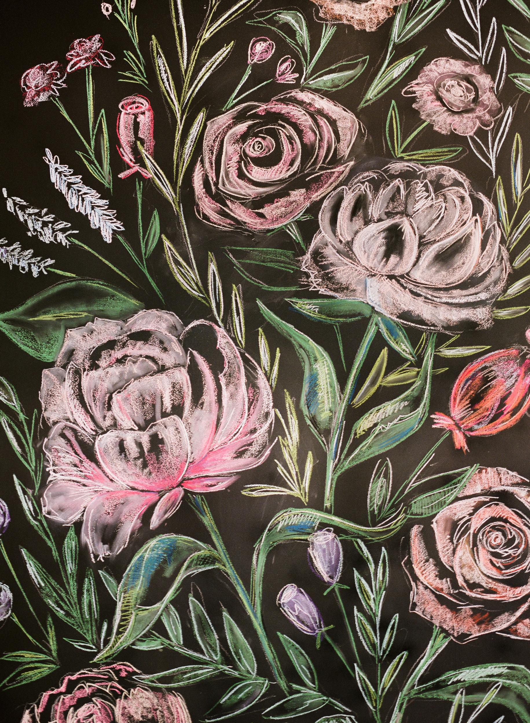 suzanne joseph wedding chalk wall corbin gurkin
