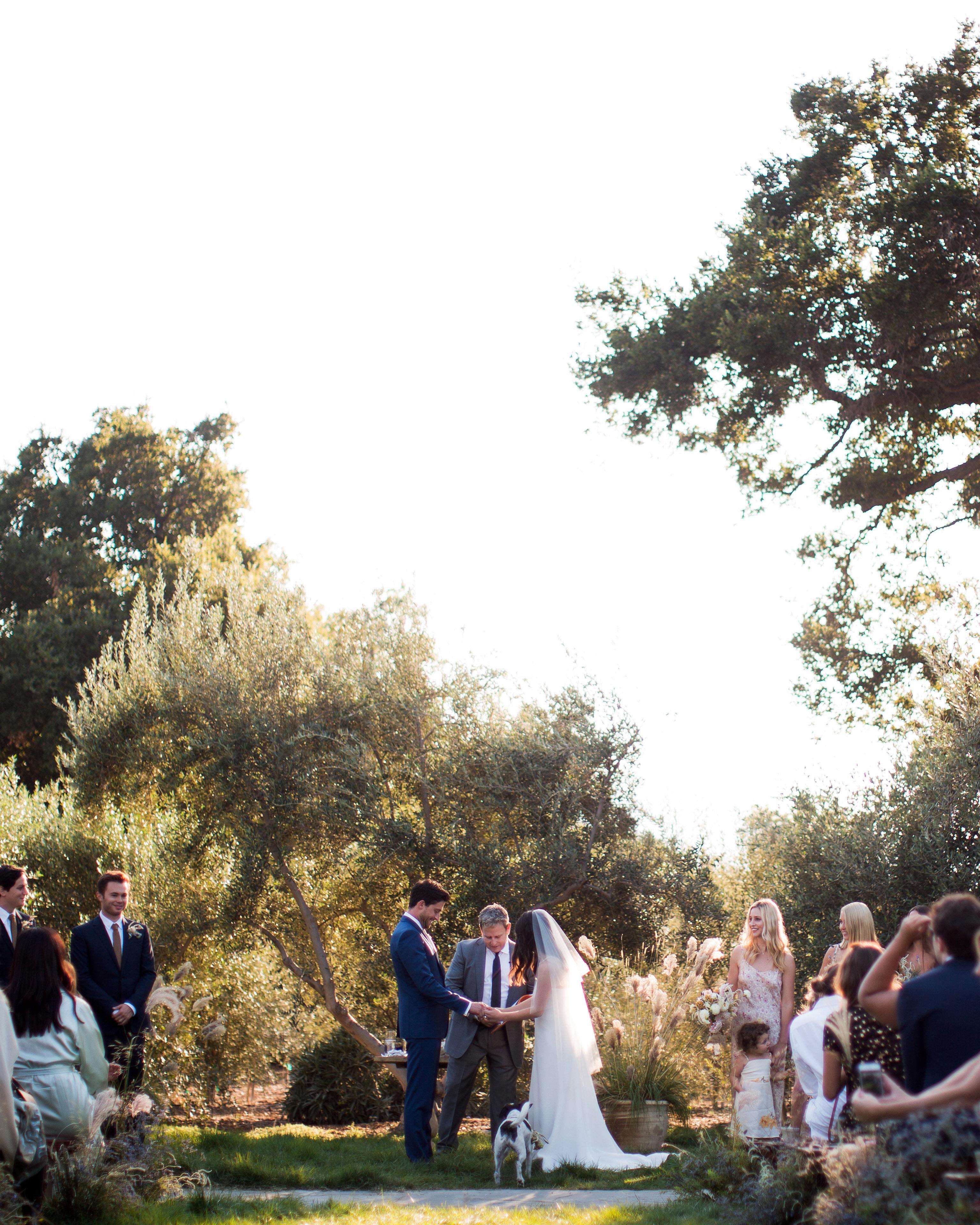 anika max wedding couple outdoor ceremony