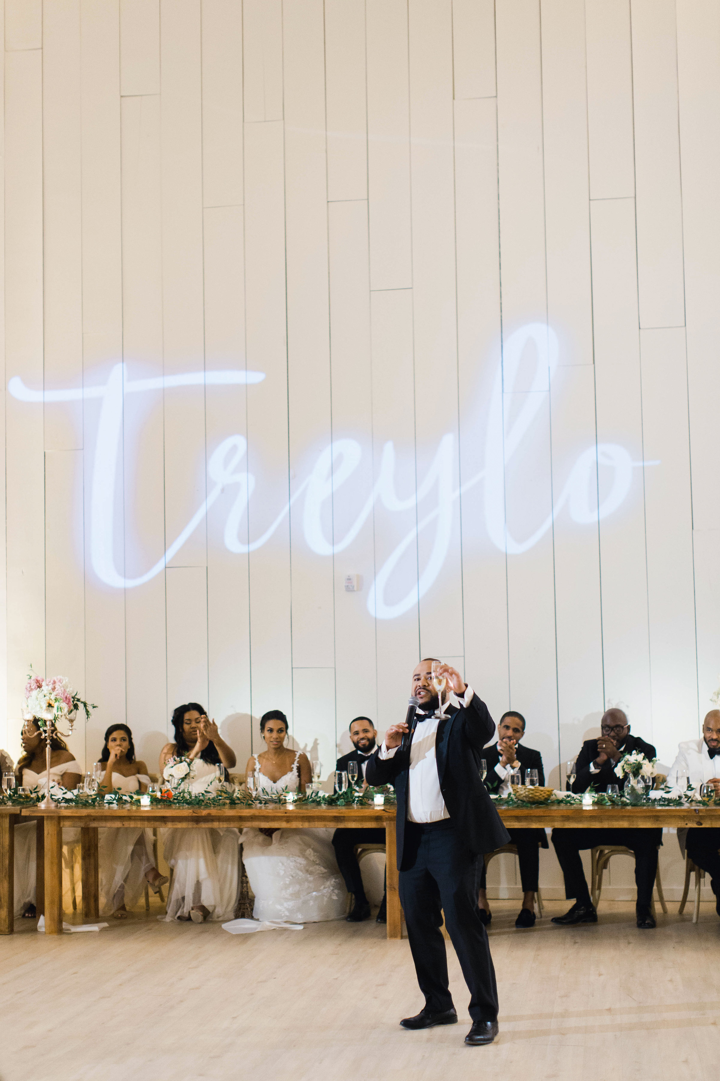 wedding best man toast name on wall