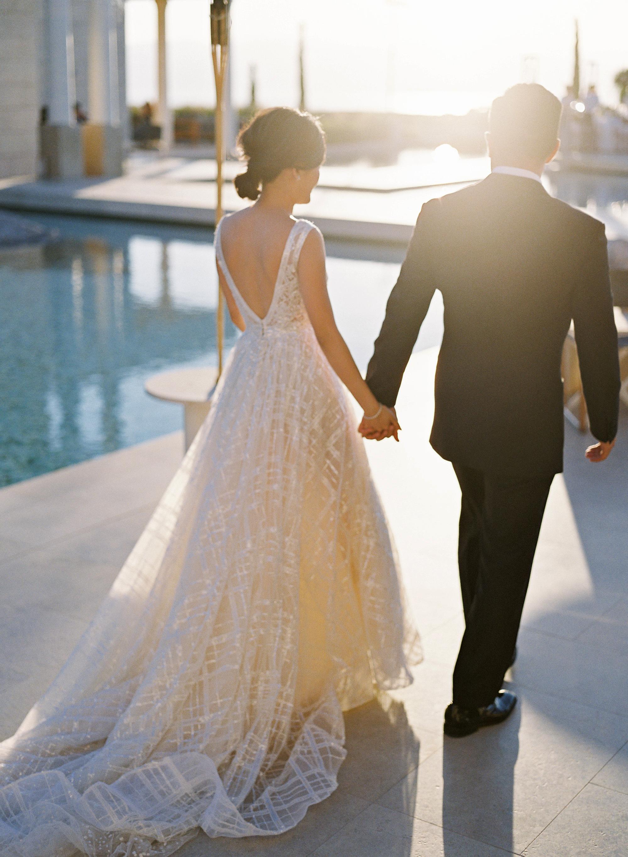sze amanzoe wedding couple greece elegant