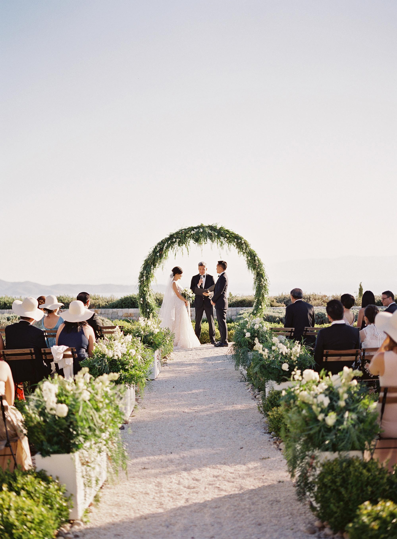 sze amanzoe wedding ceremony greece elegant