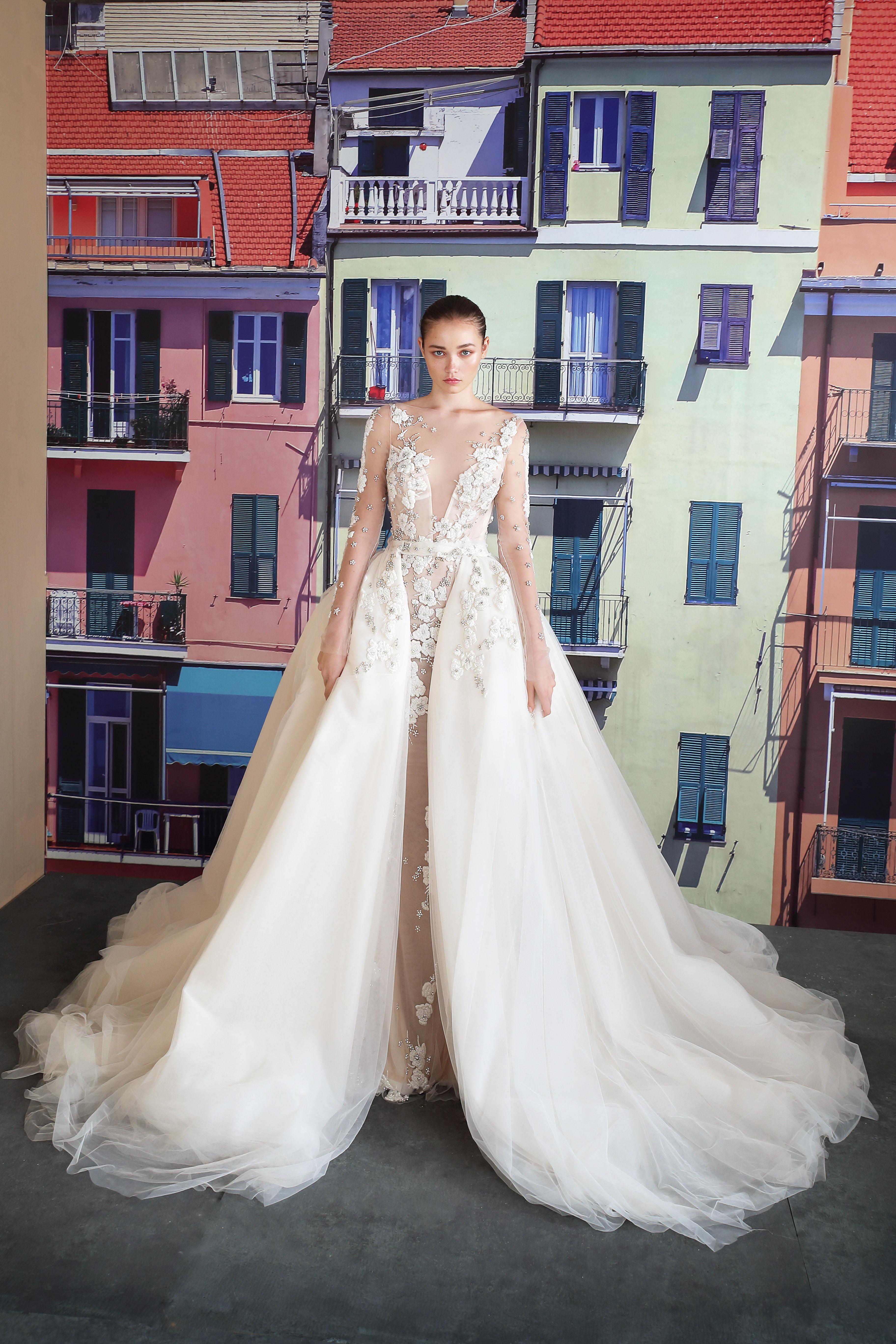 galia lahav illusion v-neck wedding dress fall 2019